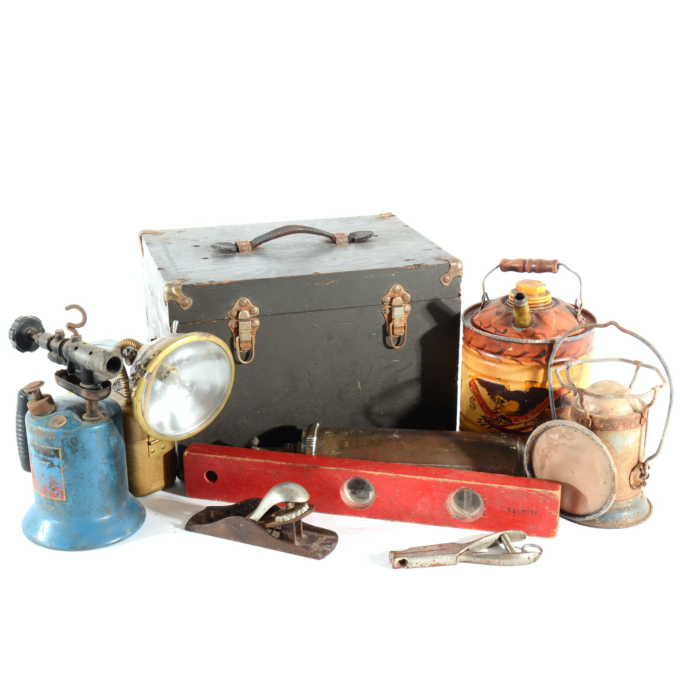 Collection of Vintage and Antique Tools and Household Items
