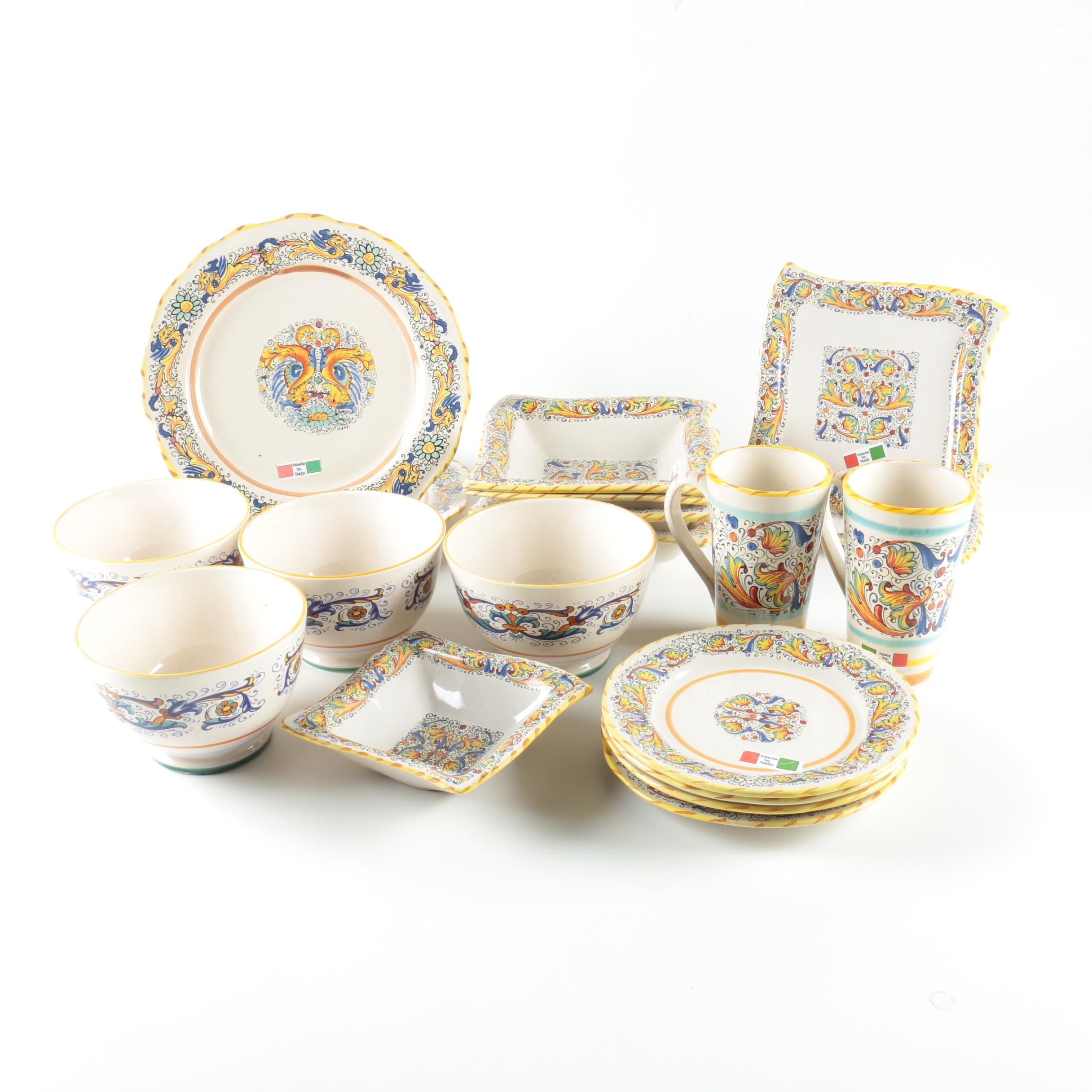 Collection of Meridiana and Deruta Tableware