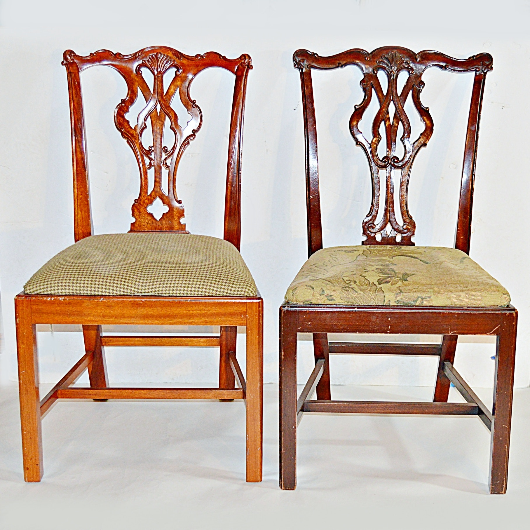 Two Chippendale Style Side Chairs