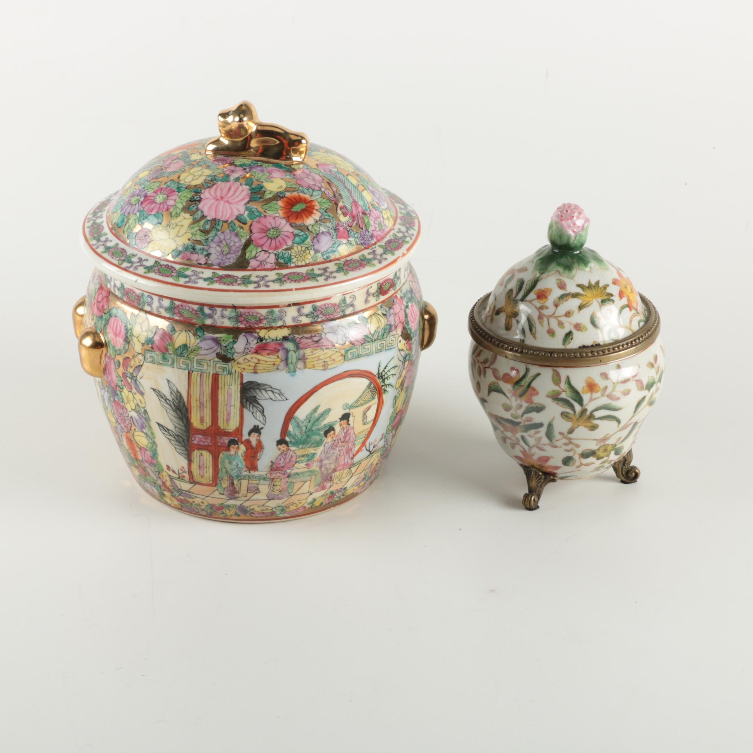 Asian Decorative Porcelain Jars