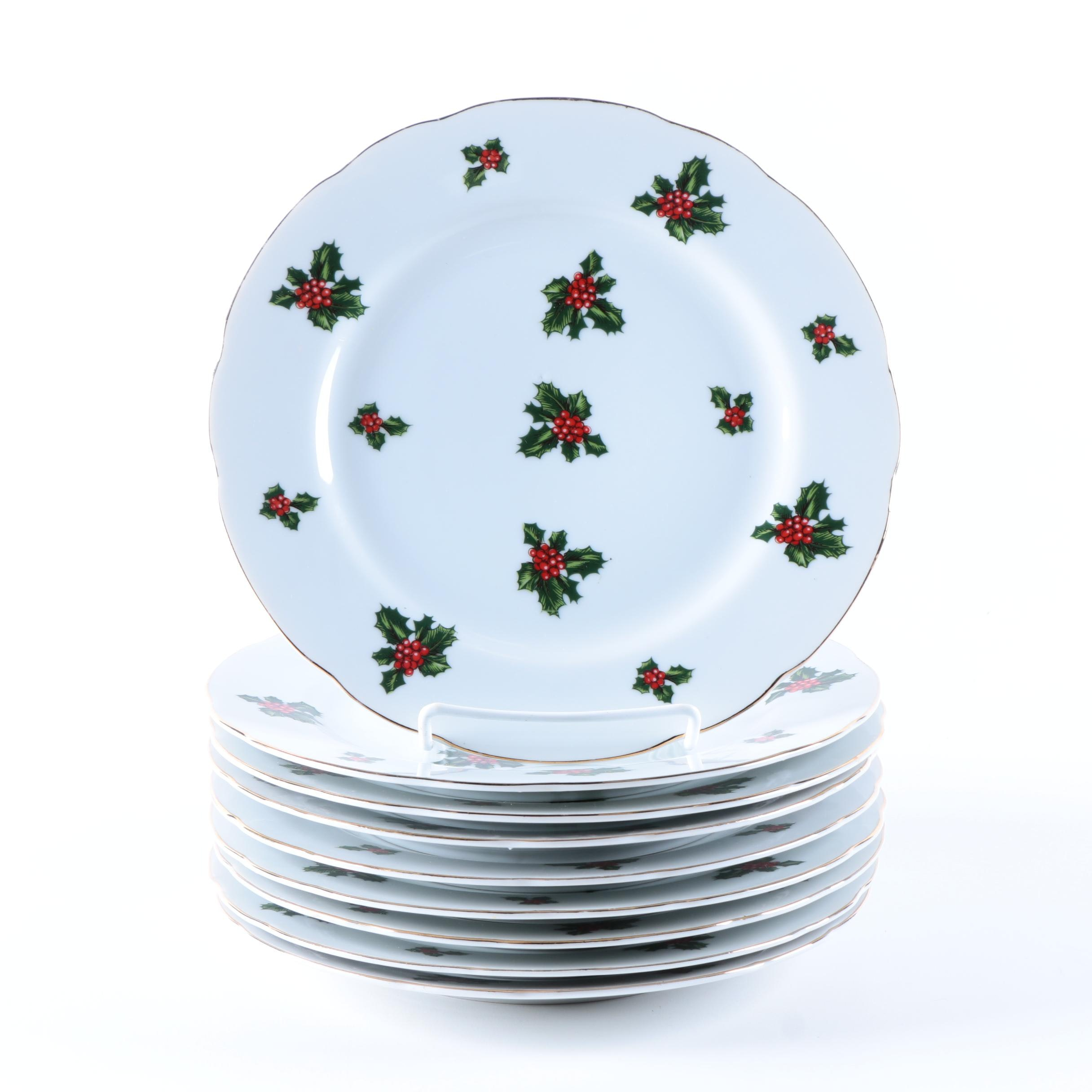 Leftone China Hand Painted Holiday Plates