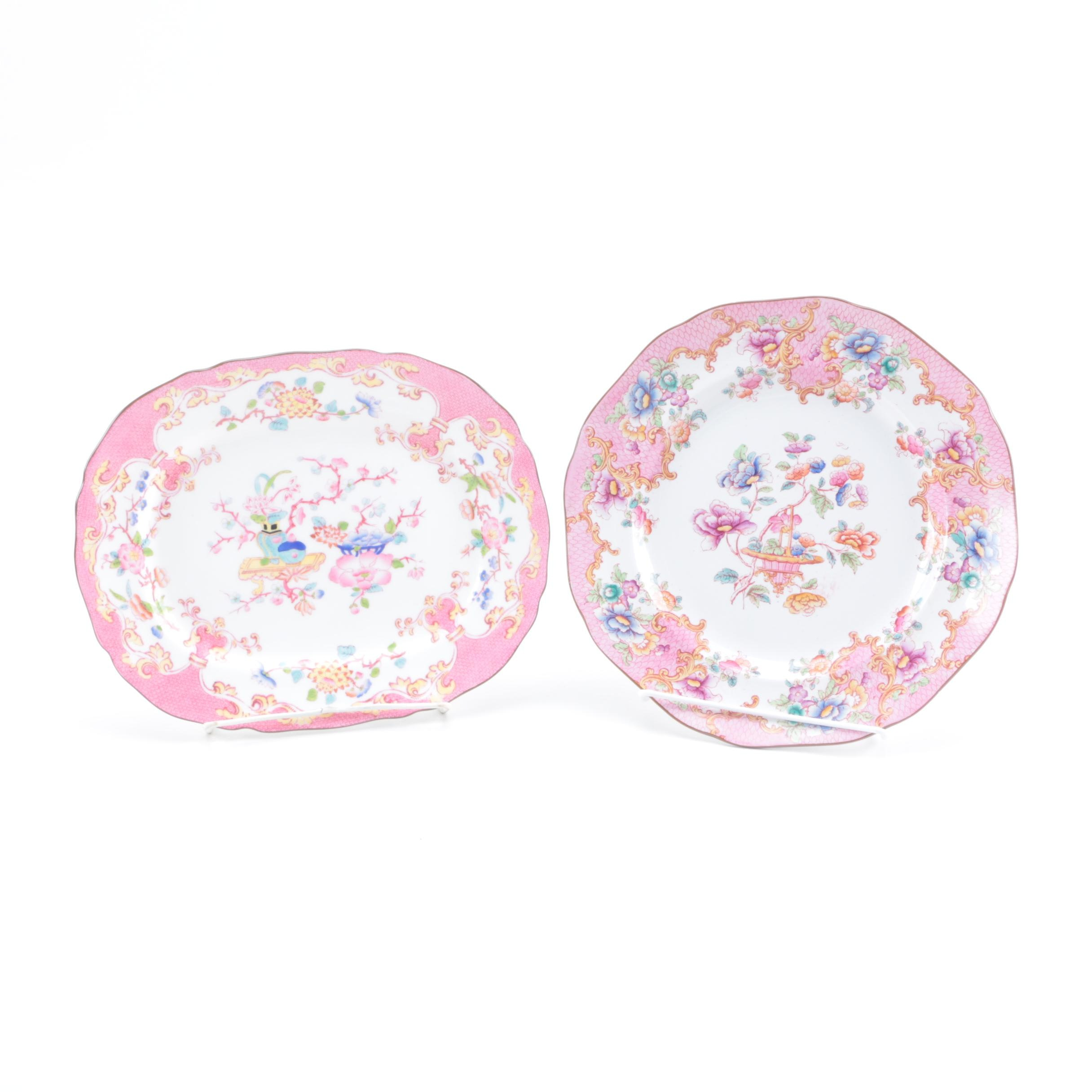 Pair of Decorative Porcelain Plates Including Mintons