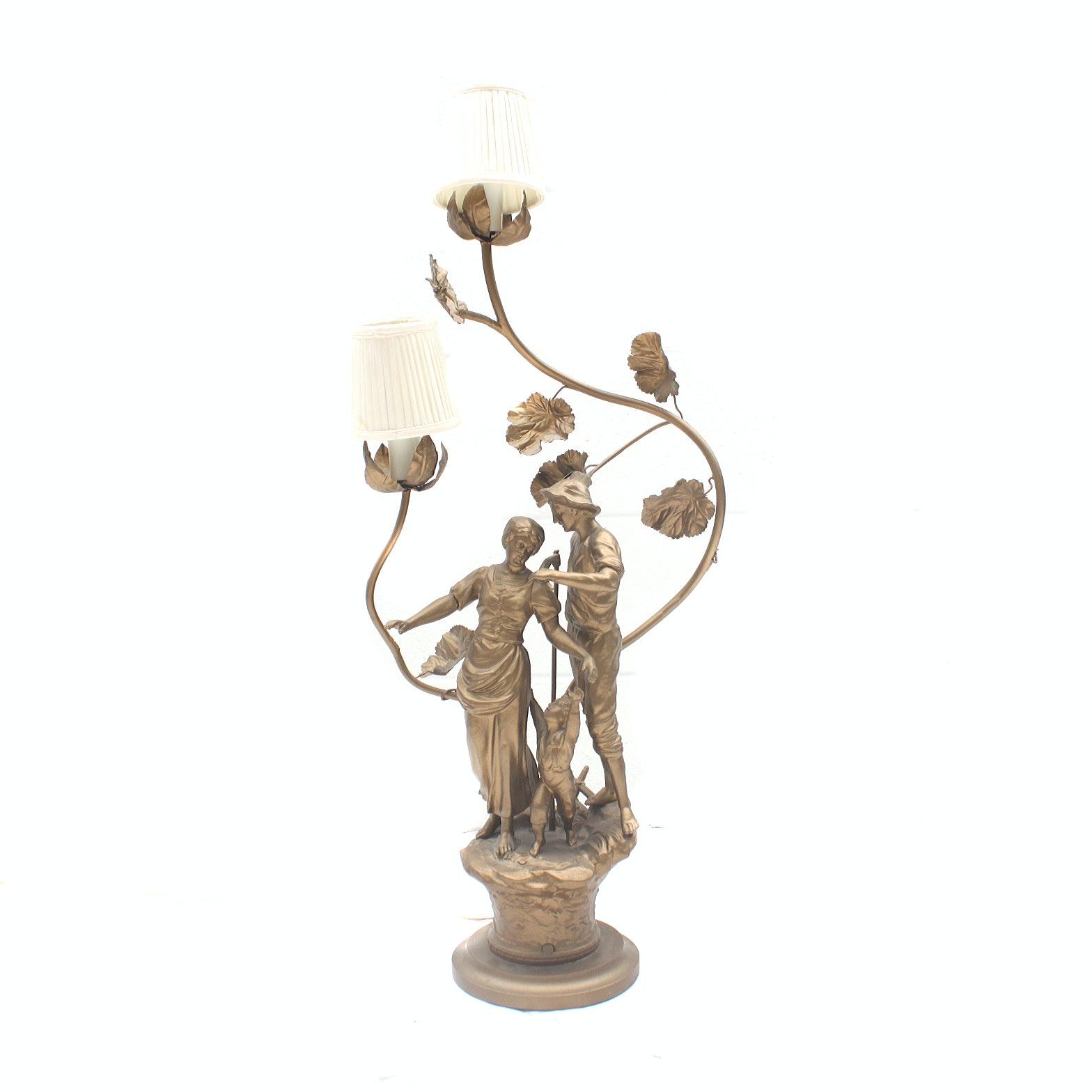 Vintage Statue Accent Lamp