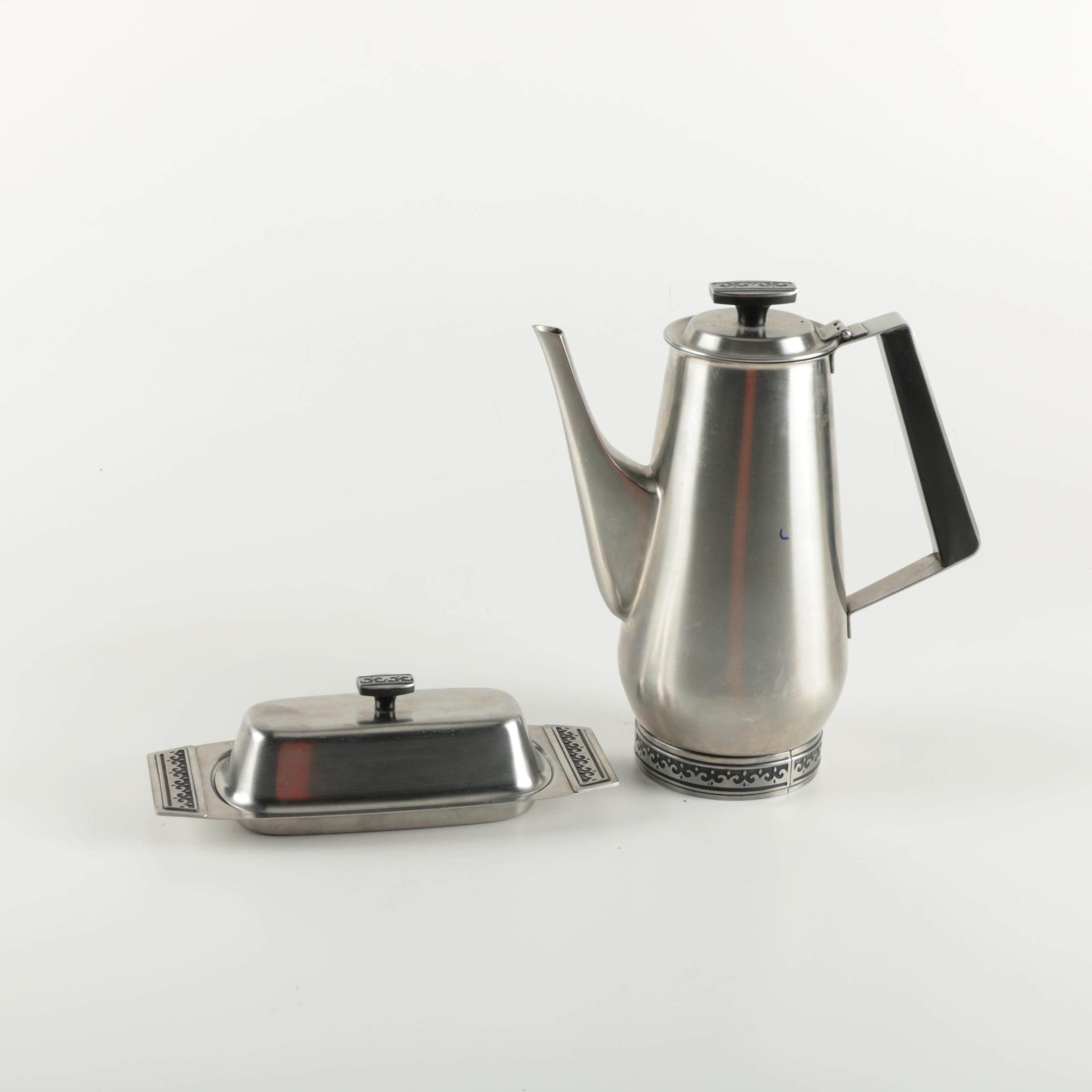 Mid Century Modern International Stainless Servingware