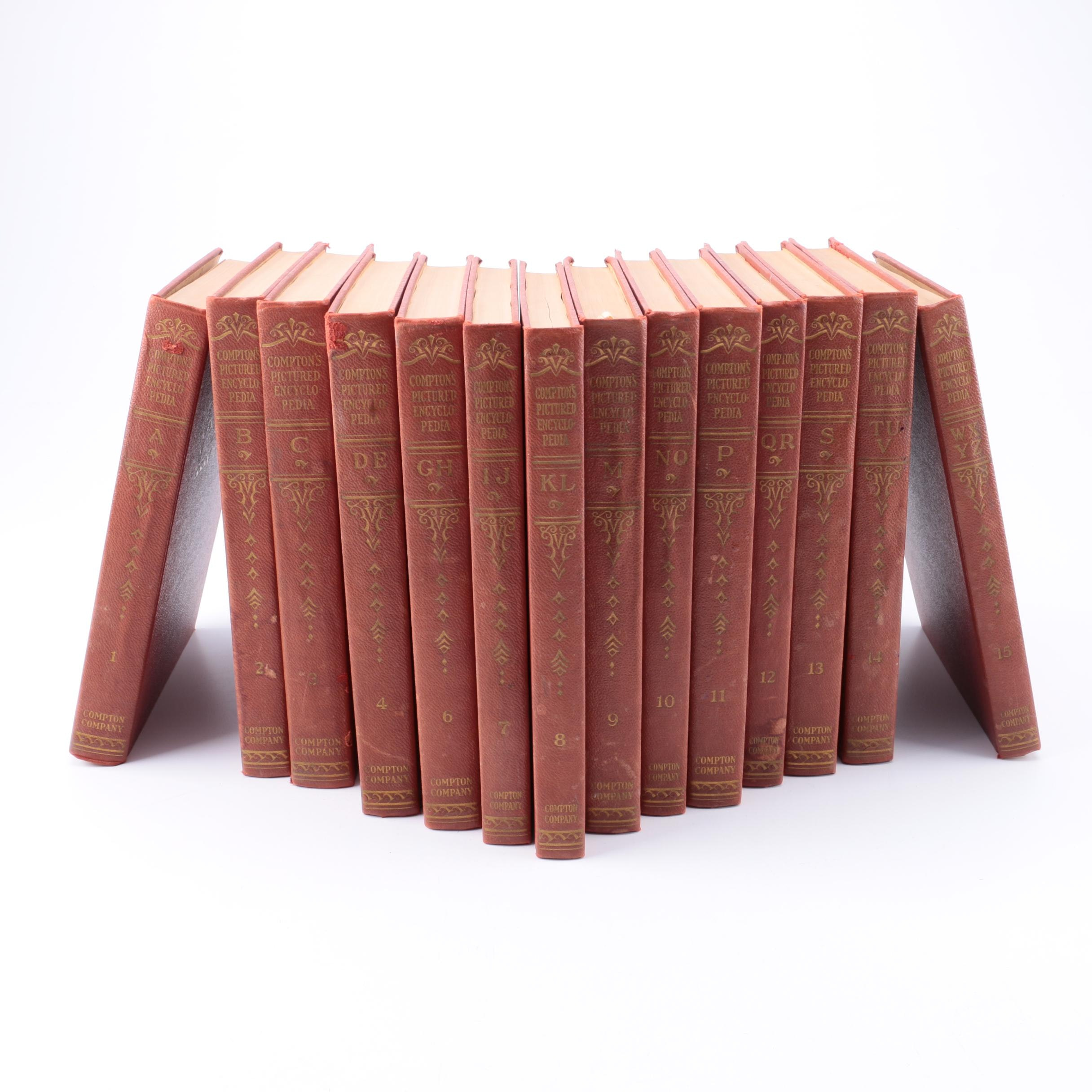 "1941 ""Compton's Pictured Encyclopedia and Fact-Index"" Fourteen Volumes"