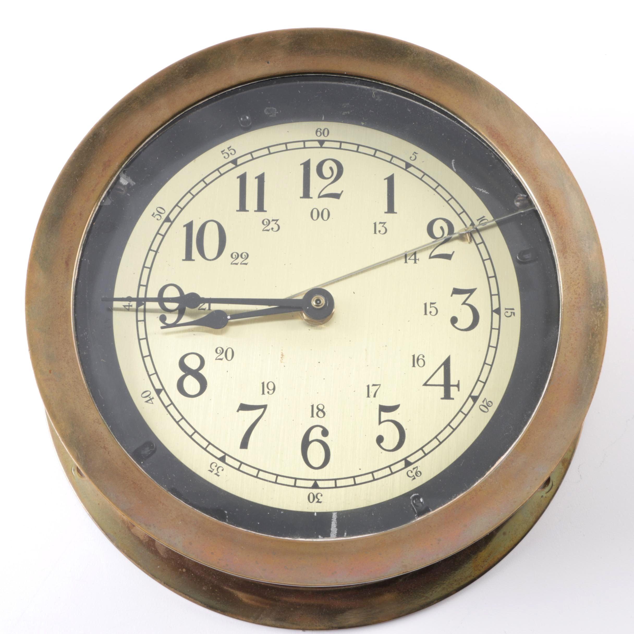 Foxboro Marine Ship's Clock