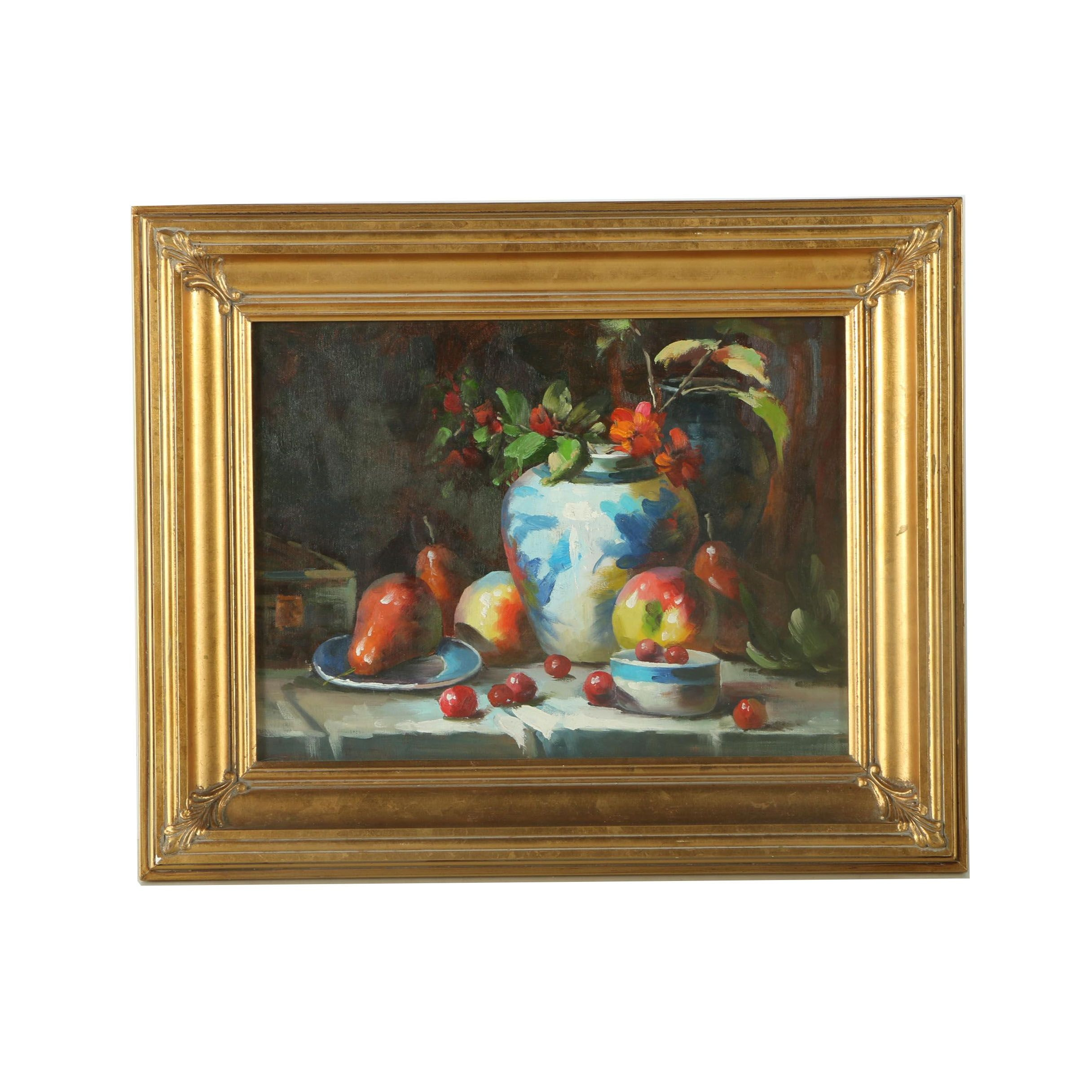 Oil Painting on Canvas of a Still Life