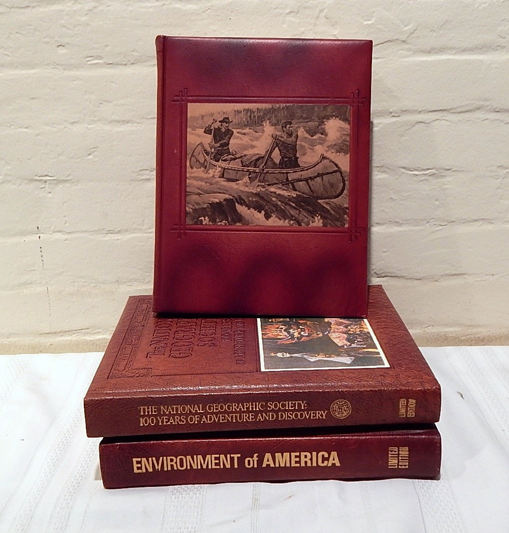 Three Leather Bound Volumes On America, Including Limited Editions