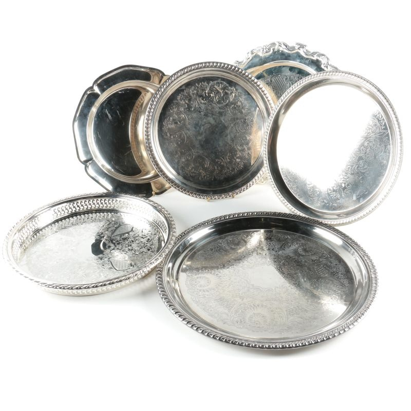 Silver Plated Trays Featuring International Silver Co.