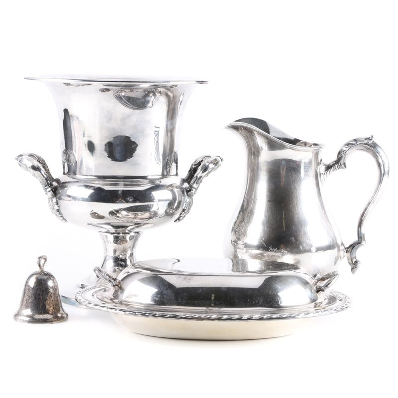 Silver Plated Tableware Including Poole
