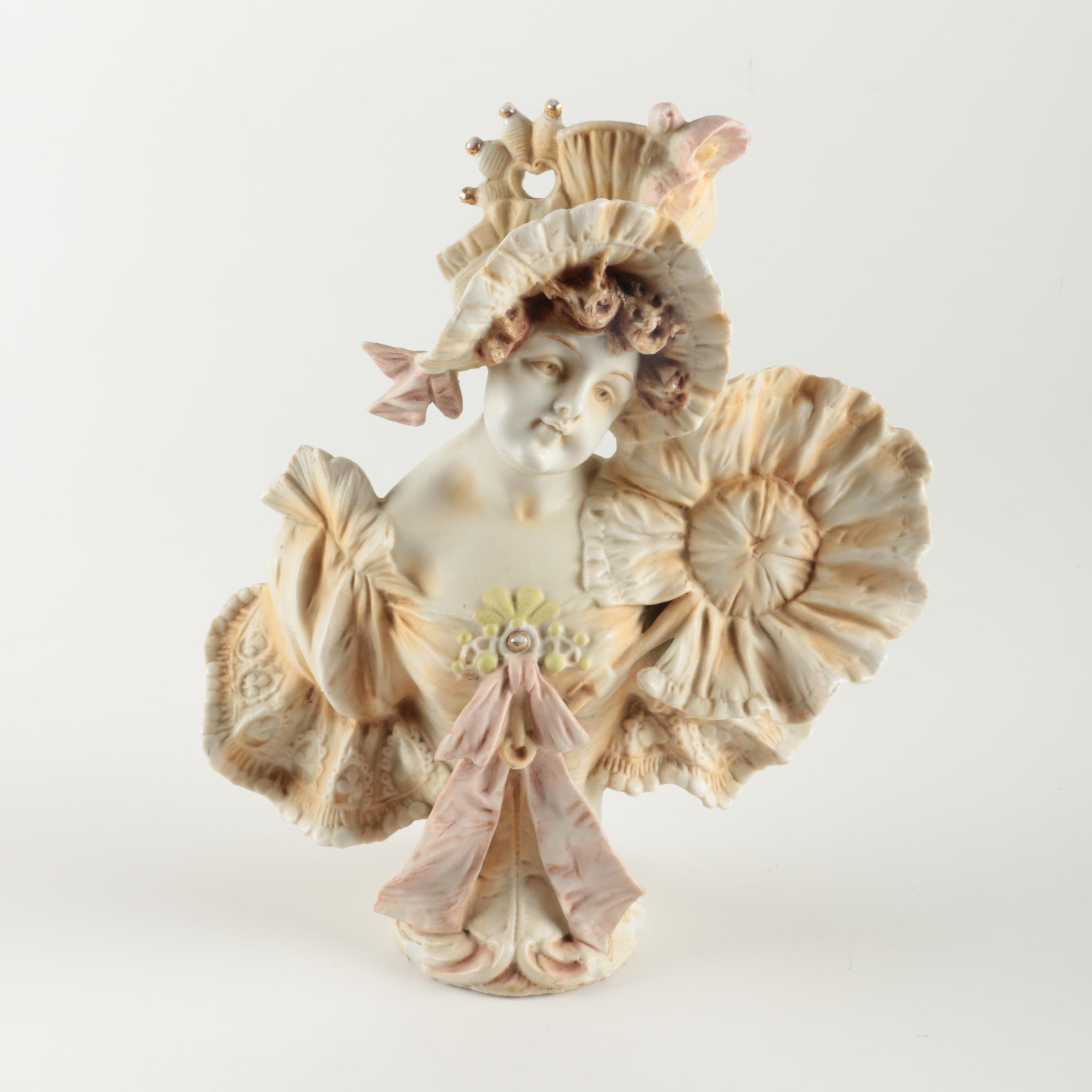 Porcelain Bust of a Woman