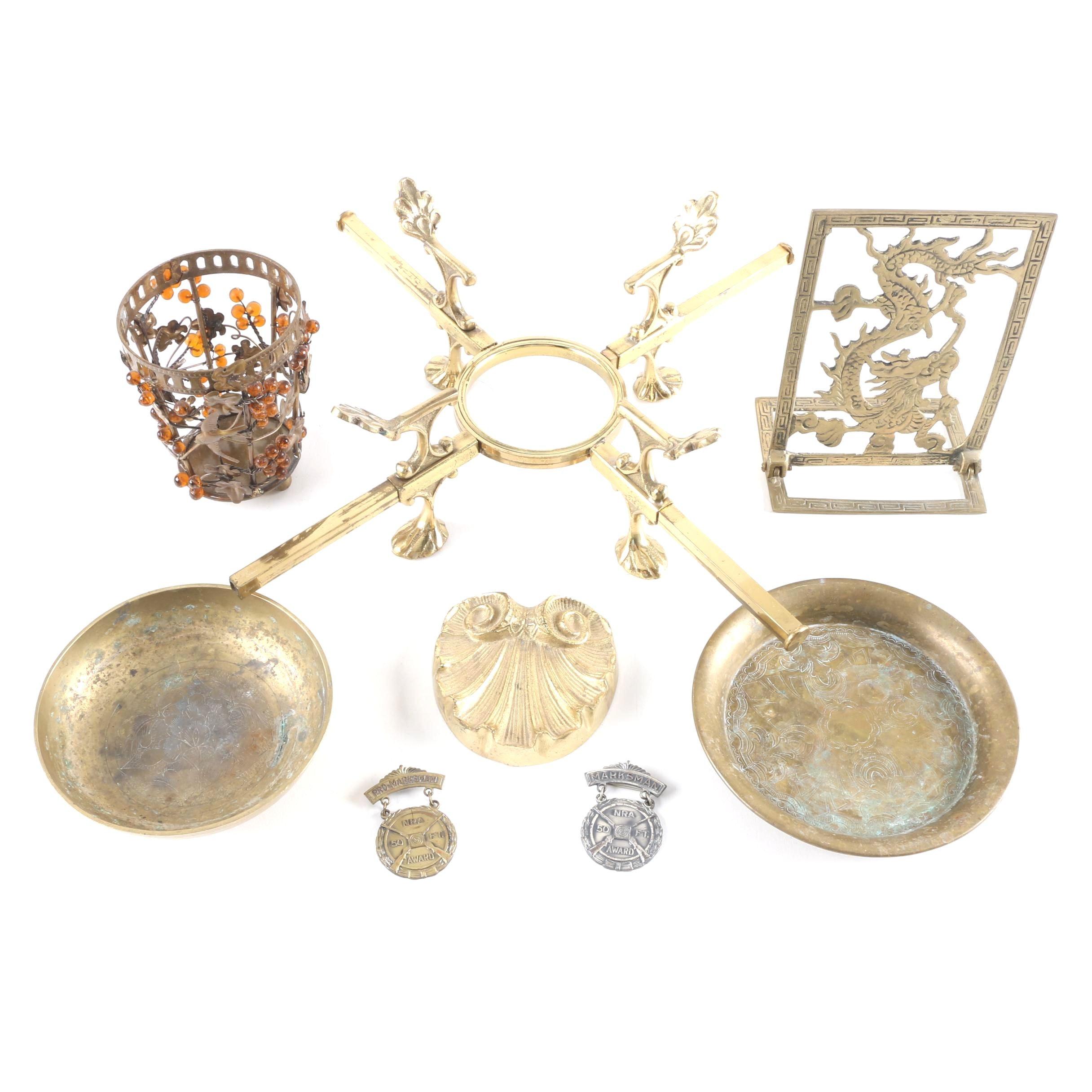 Assortment of Brass and Metal Decor
