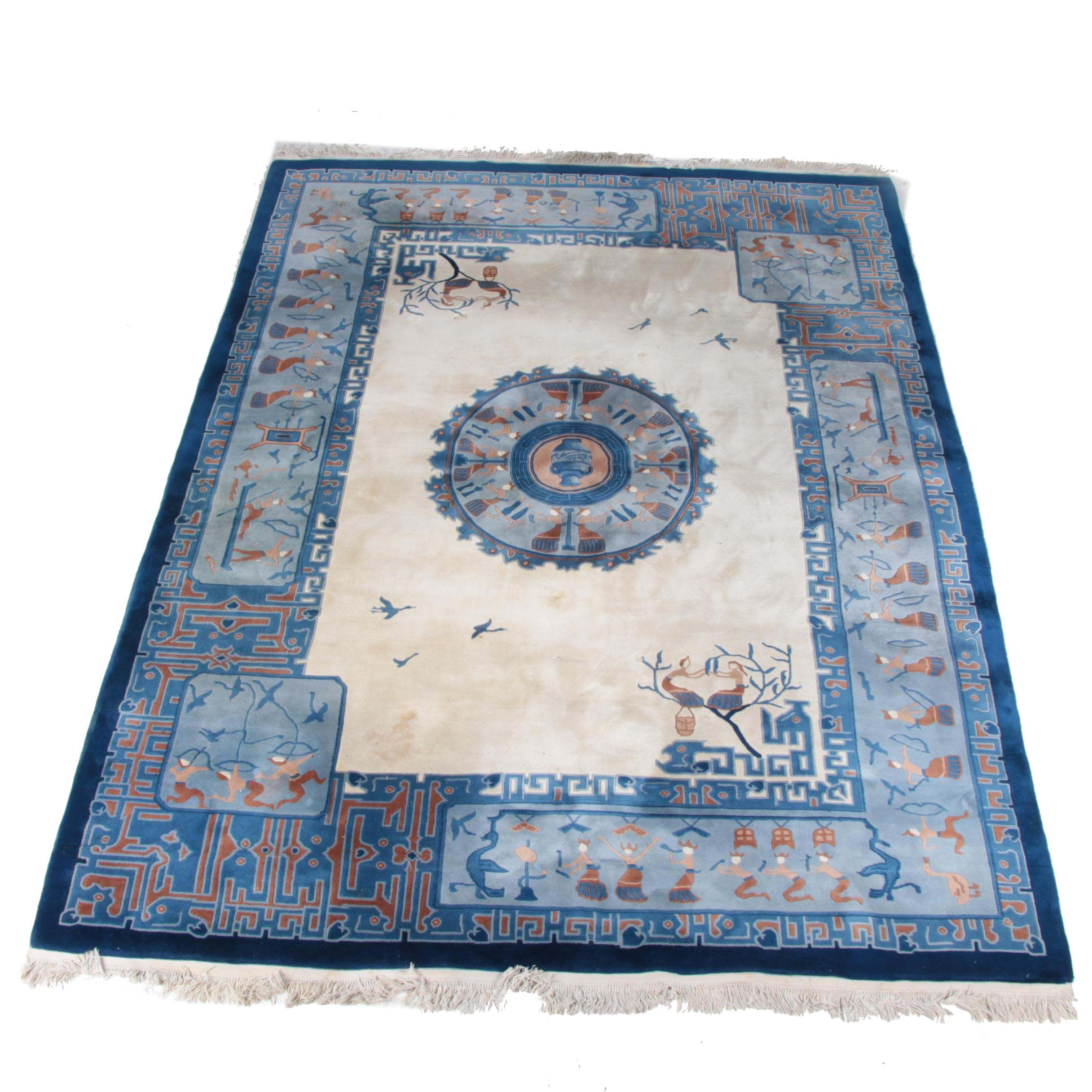 Hand Tufted Chinese Carved Wool Area Rug