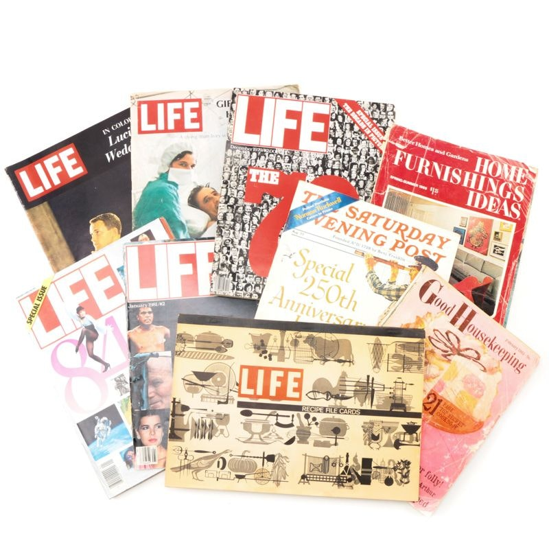 """1960s–1980s """"Life"""" and Other Vintage Magazines"""