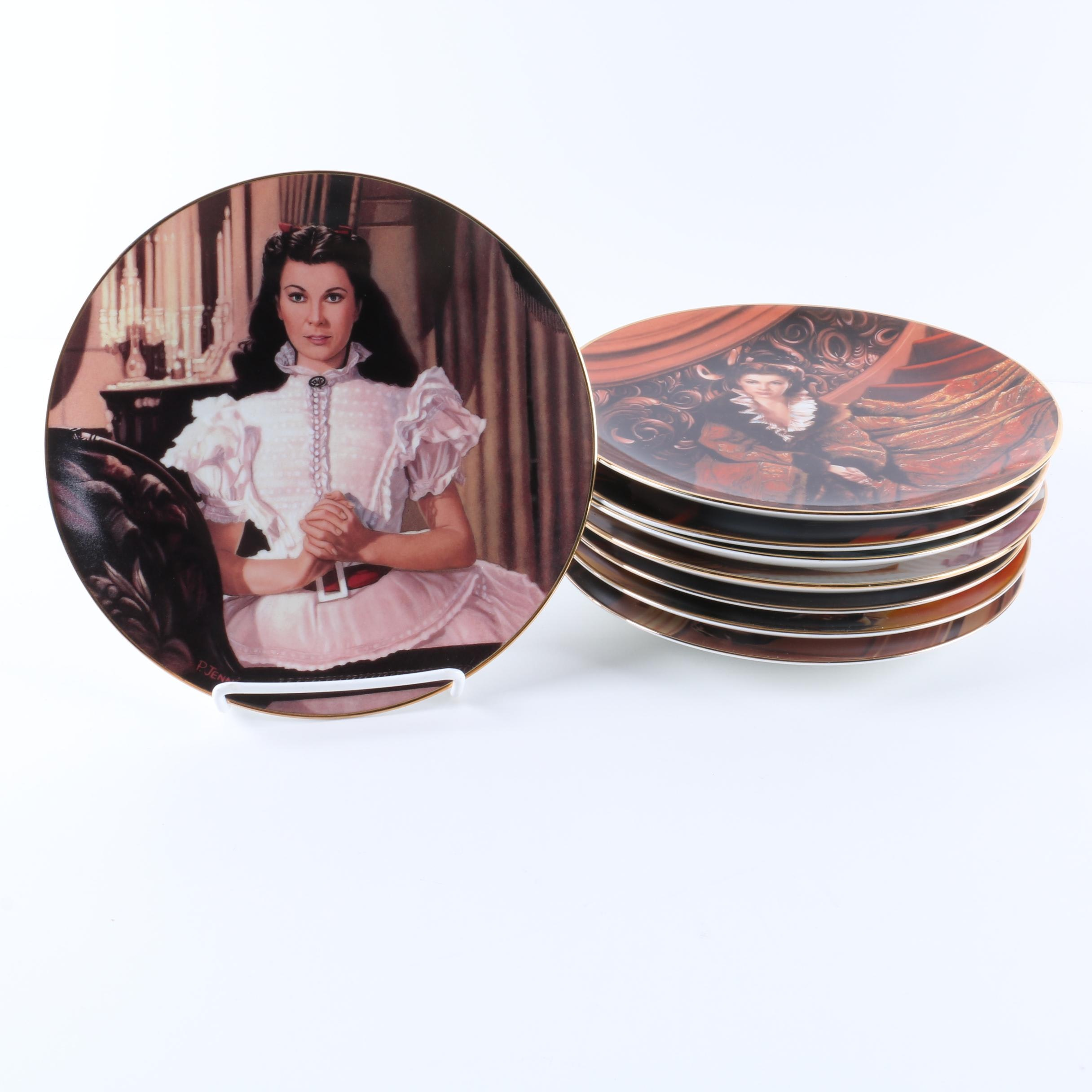 "W.S. George ""Gone with the Wind"" Limited Edition Commemorative Plates"