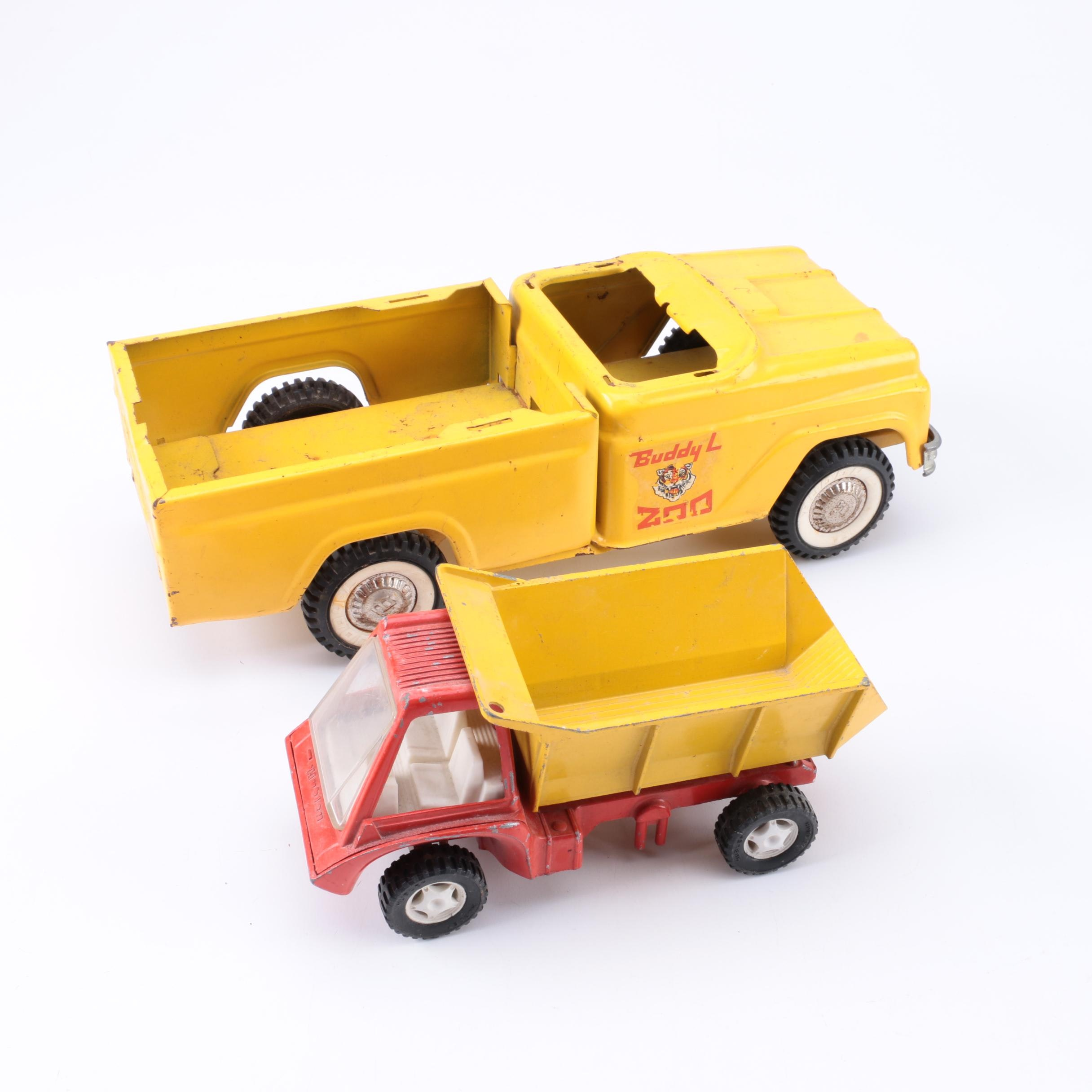 Pair of 1970s Pressed Steel Trucks Including Buddy L.