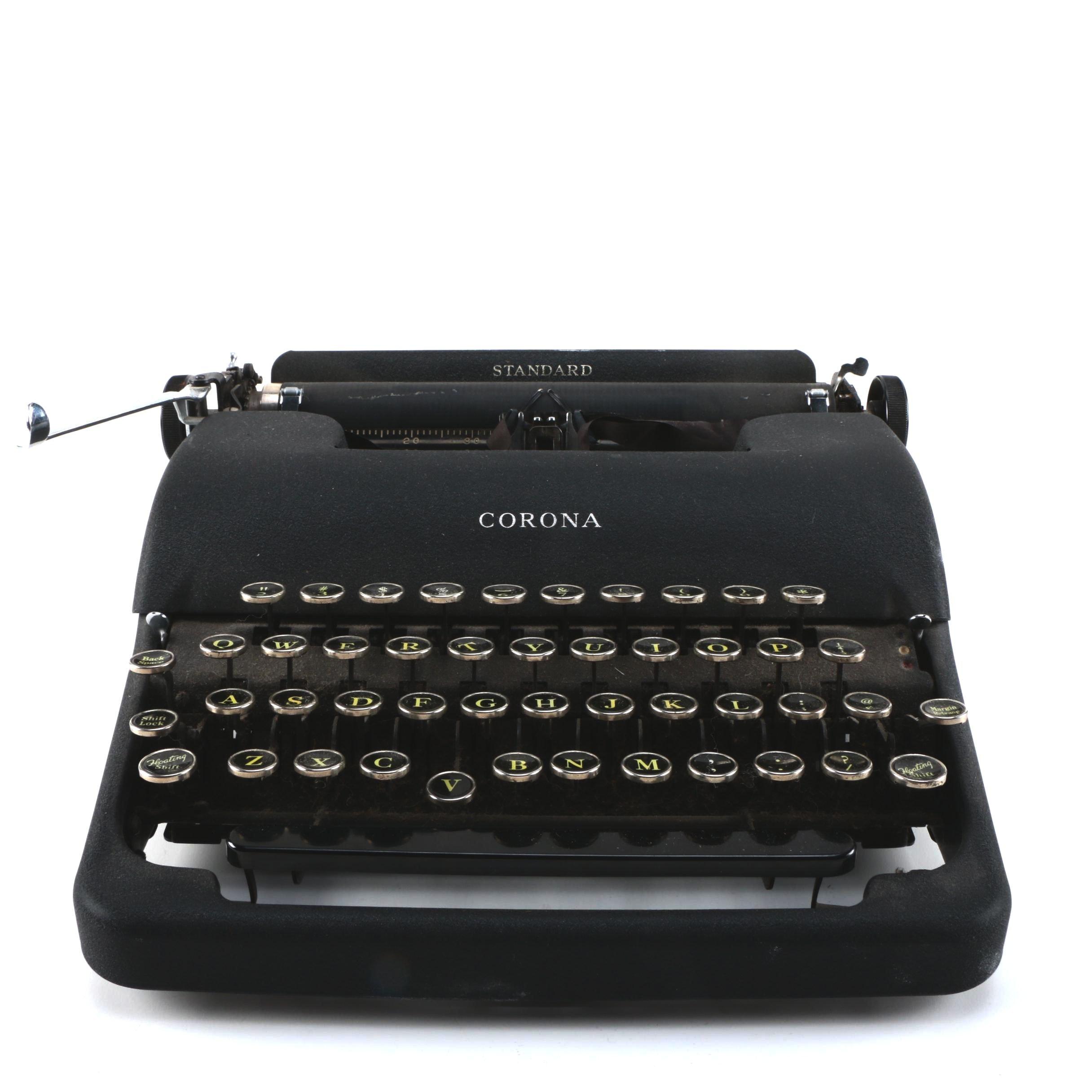 Standard Corona Typewriter