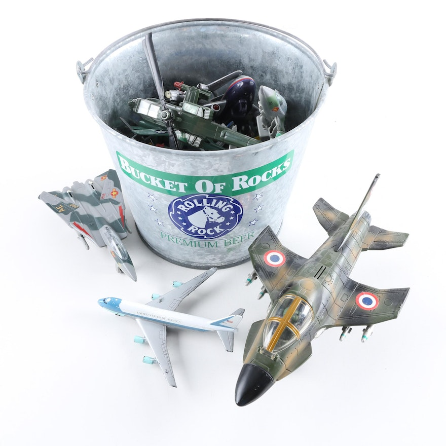 Collection of Die-Cast Model Aircraft
