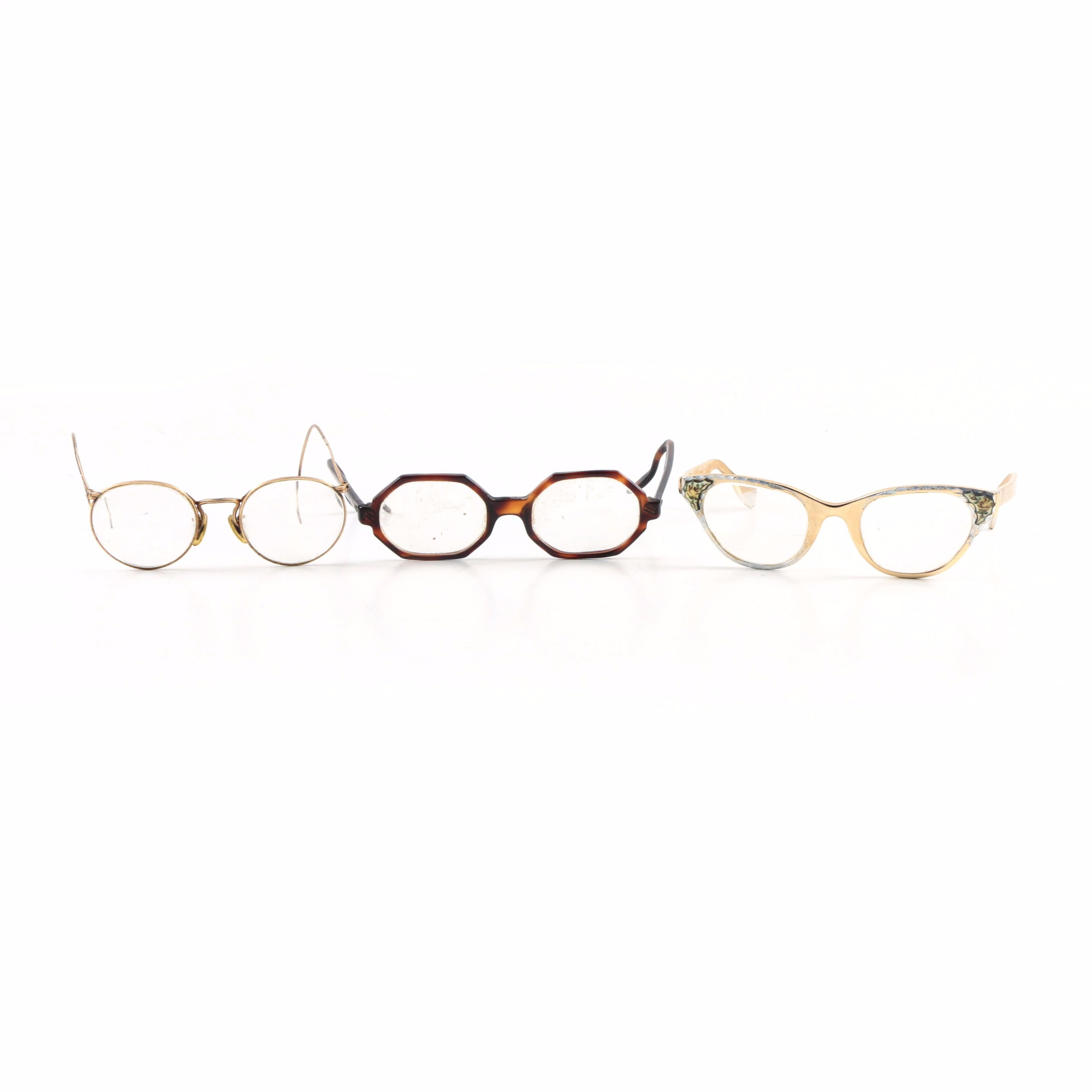 Vintage Eyeglasses Including Tura