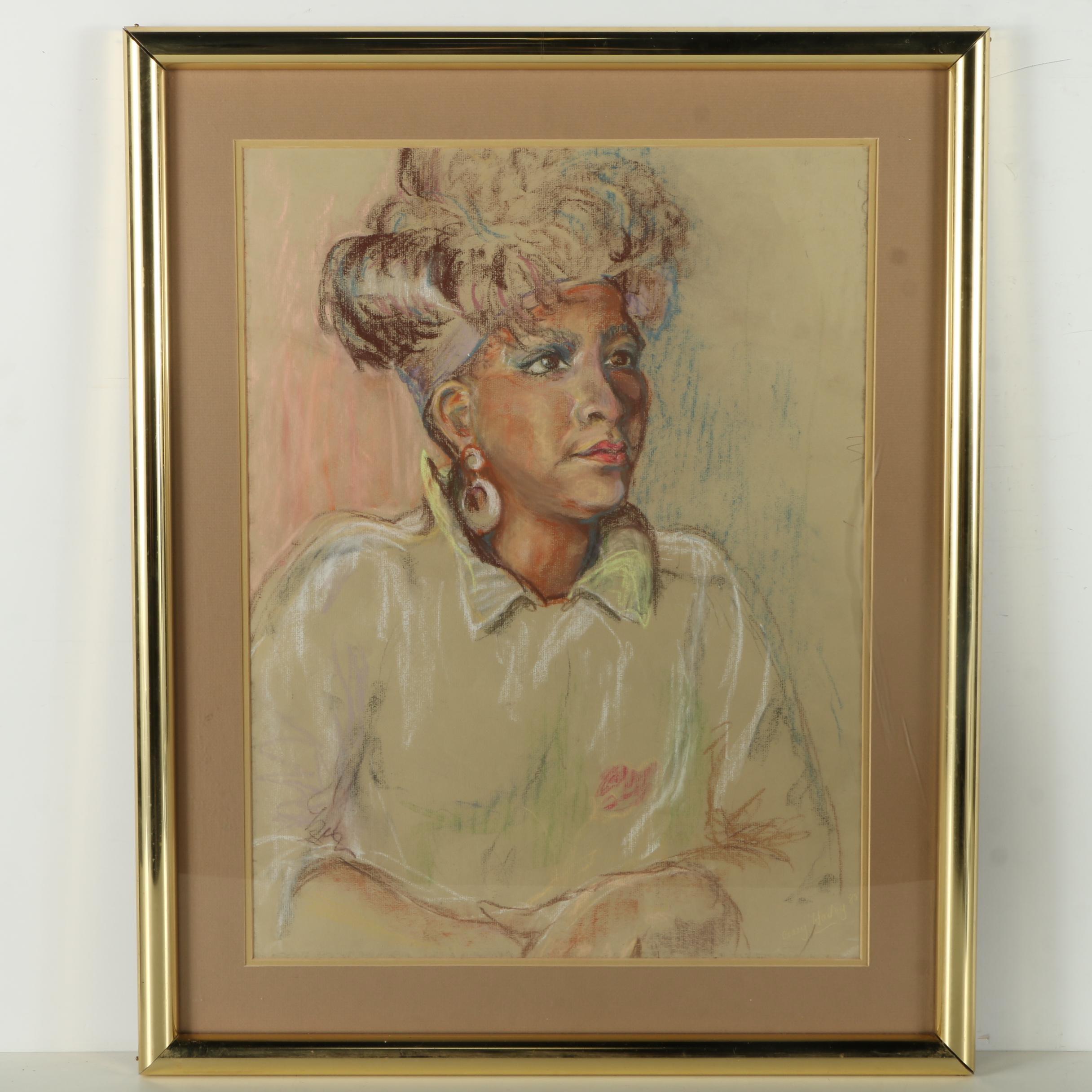 Ceacy Hailey Pastel Portrait of a Woman