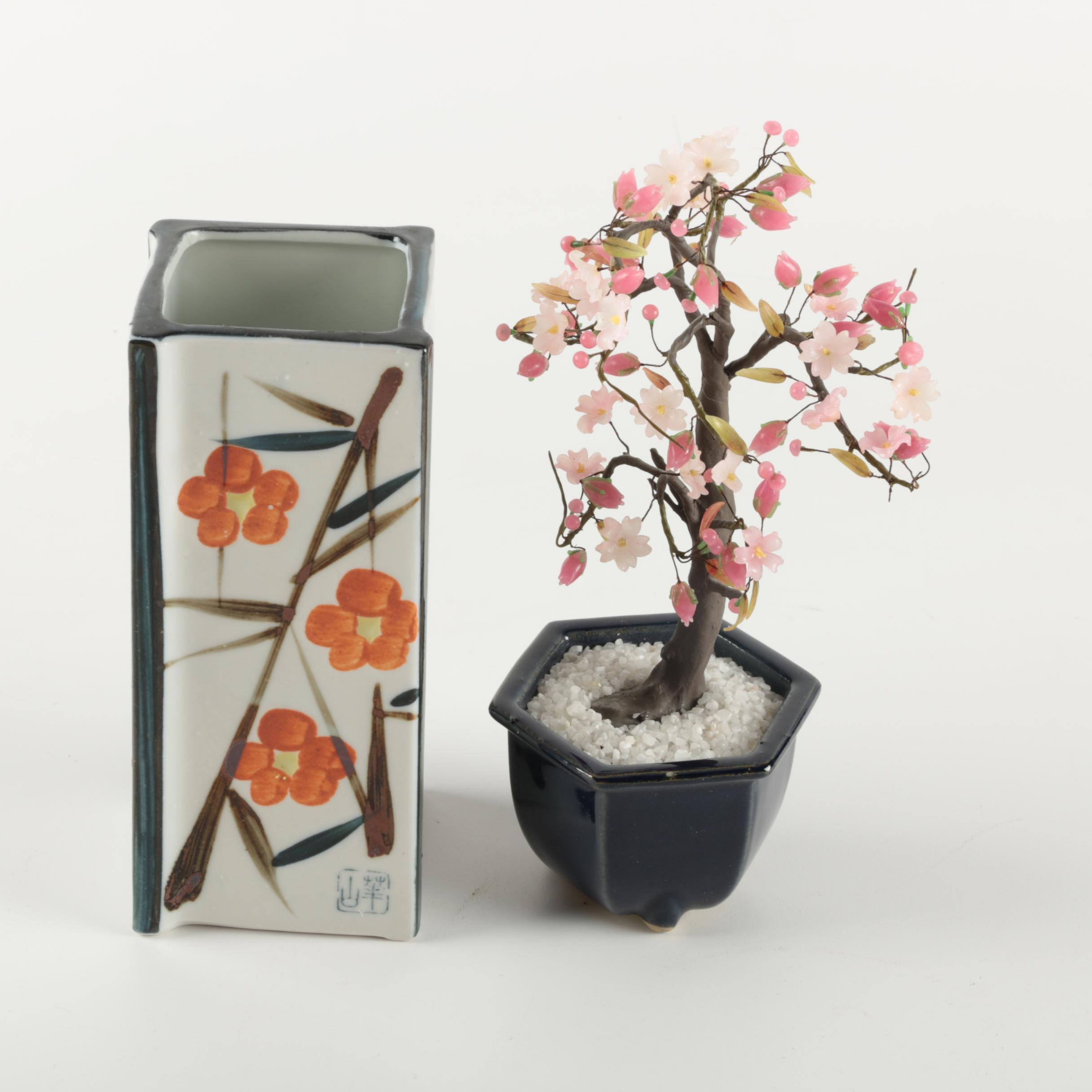 Asian Style  Vase and Decor