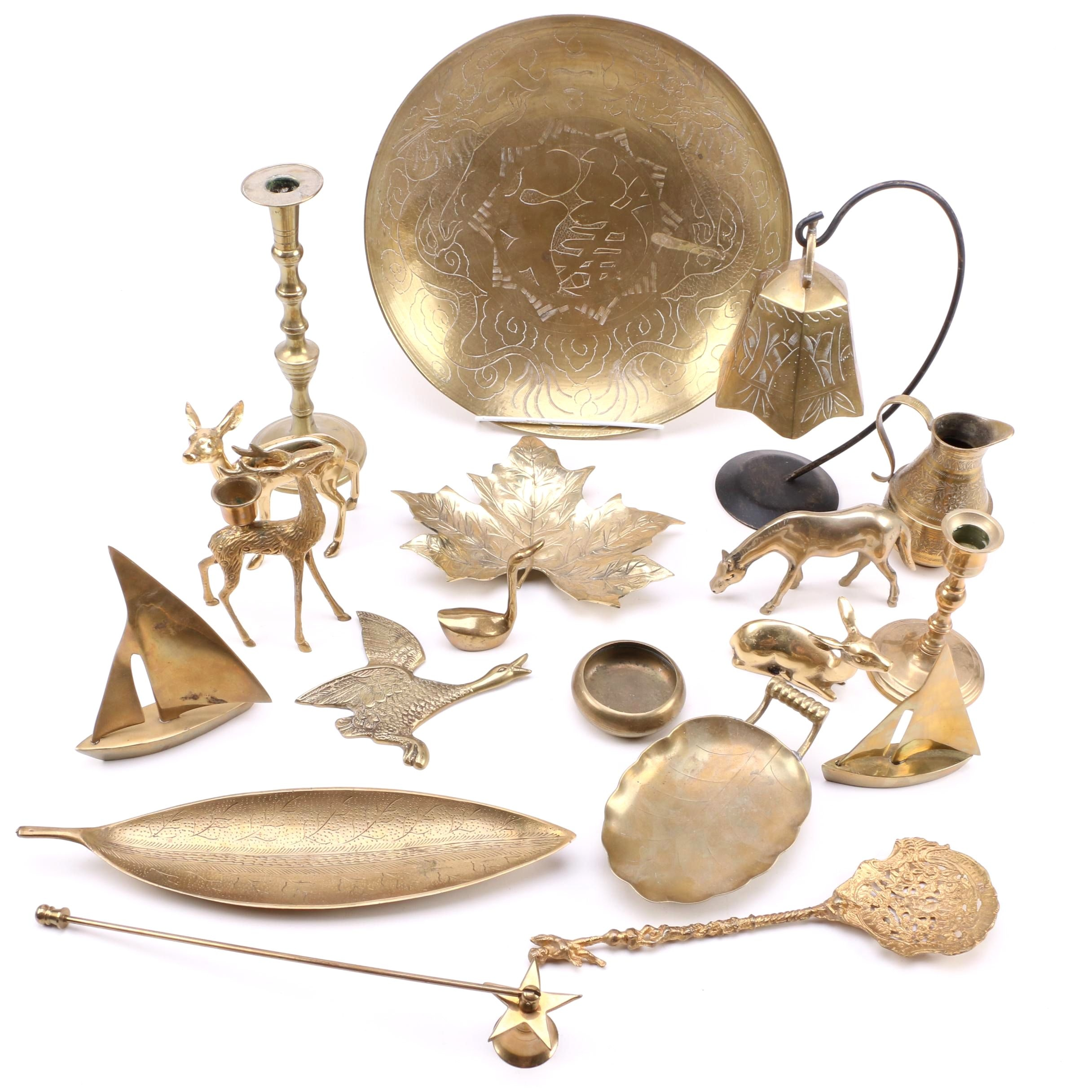 Brass Figurines and Décor