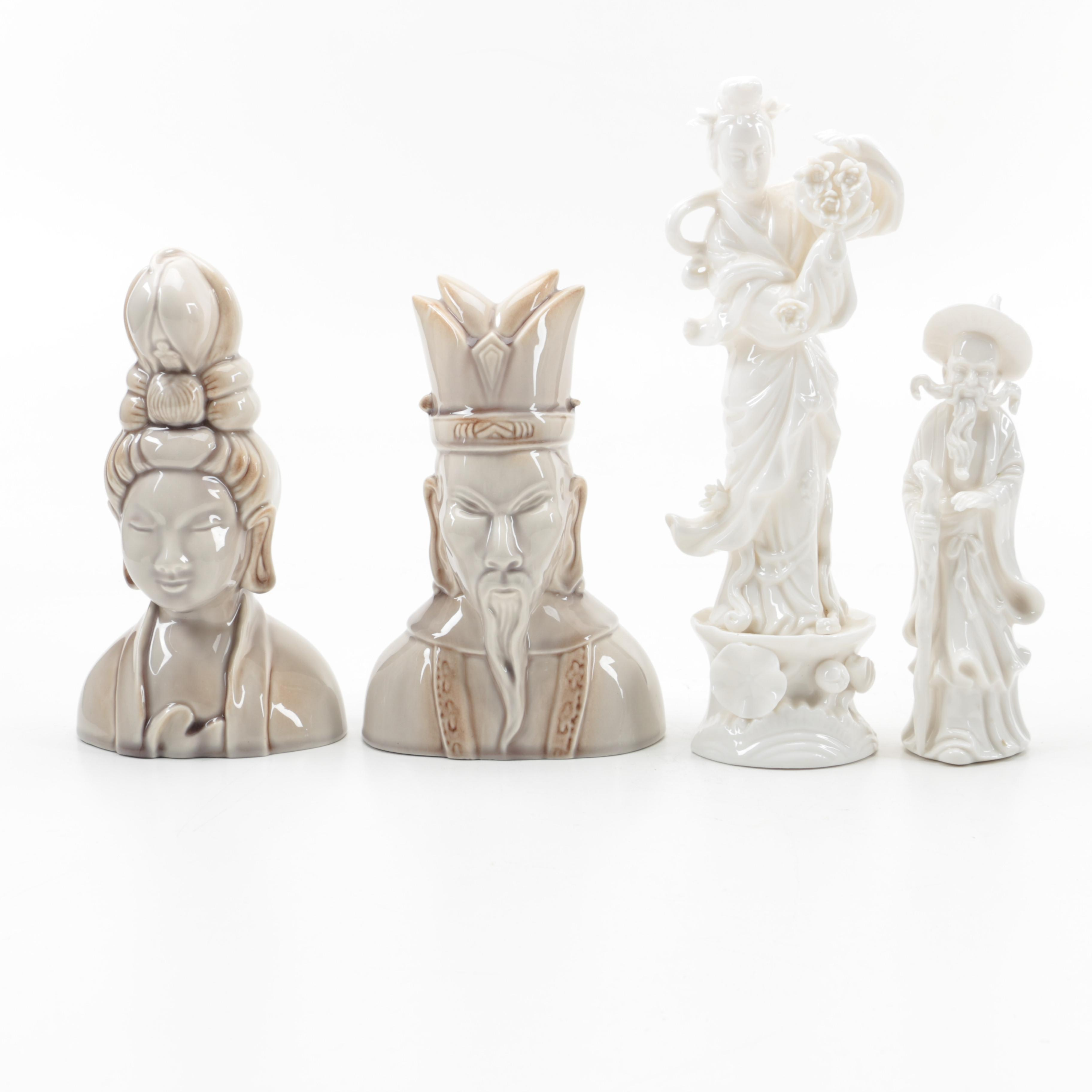 Assortment of Asian Inspired Ceramic Home Decor