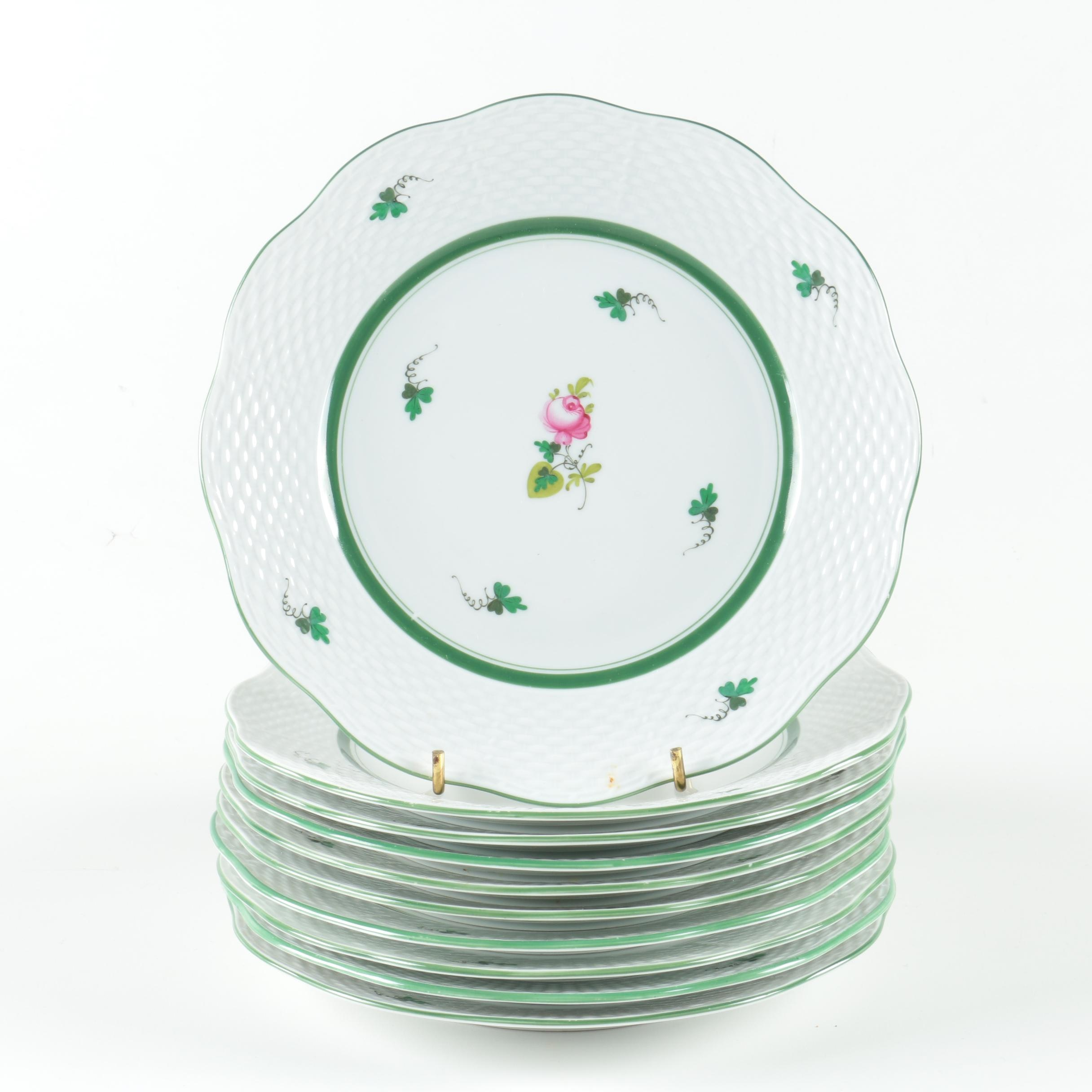 "Herend ""Vienna Rose"" Salad Plates"
