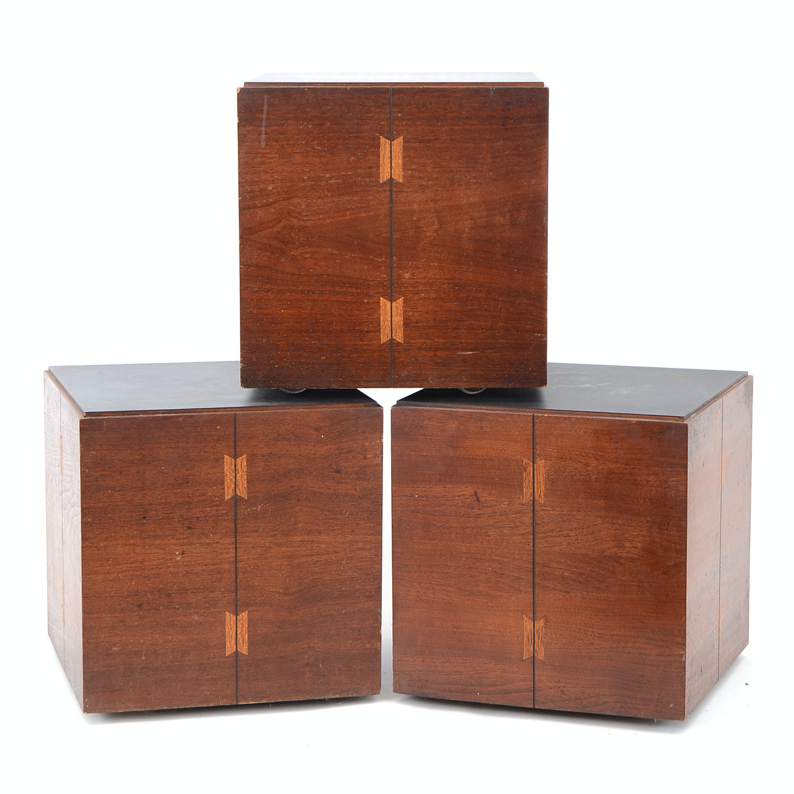 Three Mid Century Modern Cube Tables by Lane