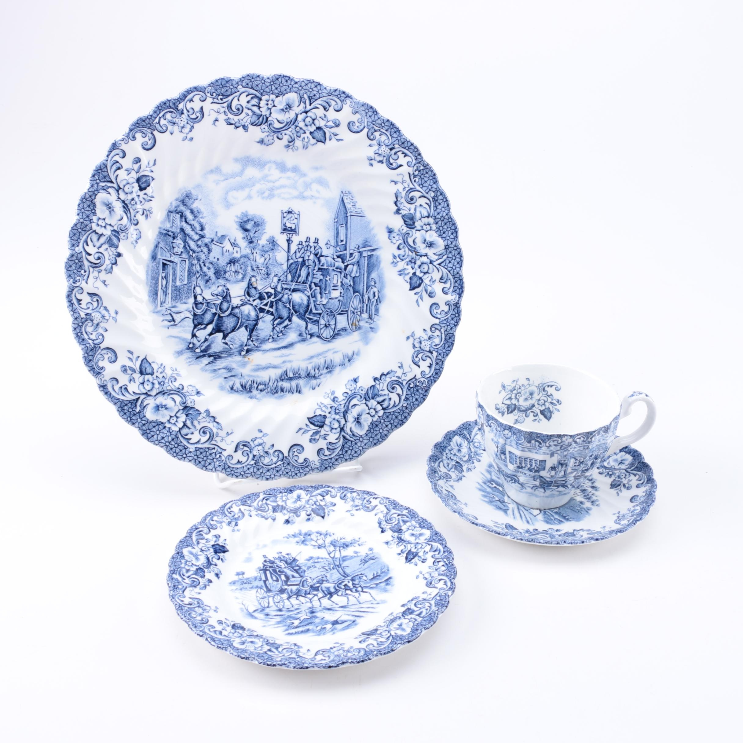 """Johnson Brothers """"Coaching Scenes Blue"""" Tableware"""