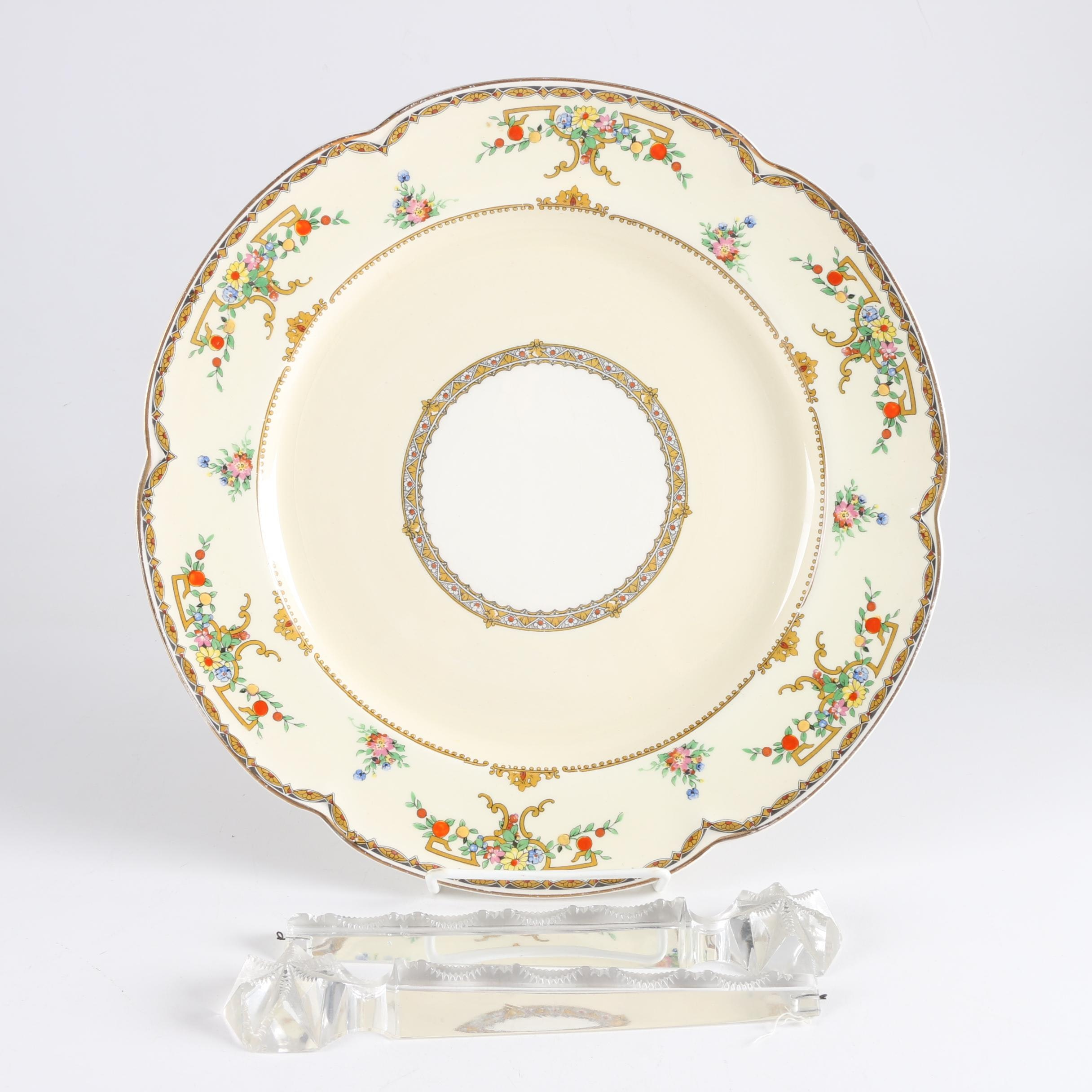 """Vintage Johnson Brothers """"Riviera"""" Plate and Prisms"""