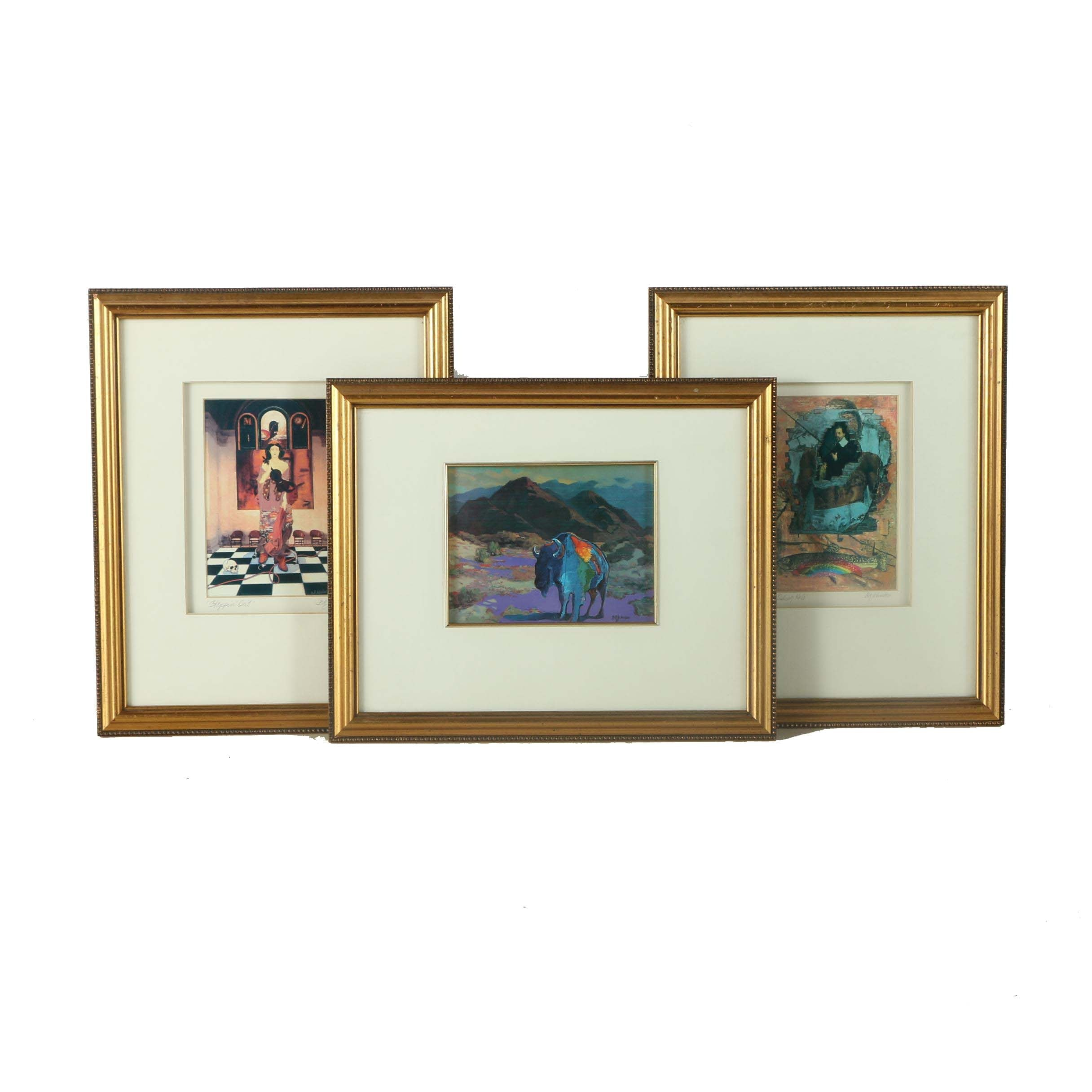 Giclee Prints and Offset Lithograph on Paper After B. A. Johnson