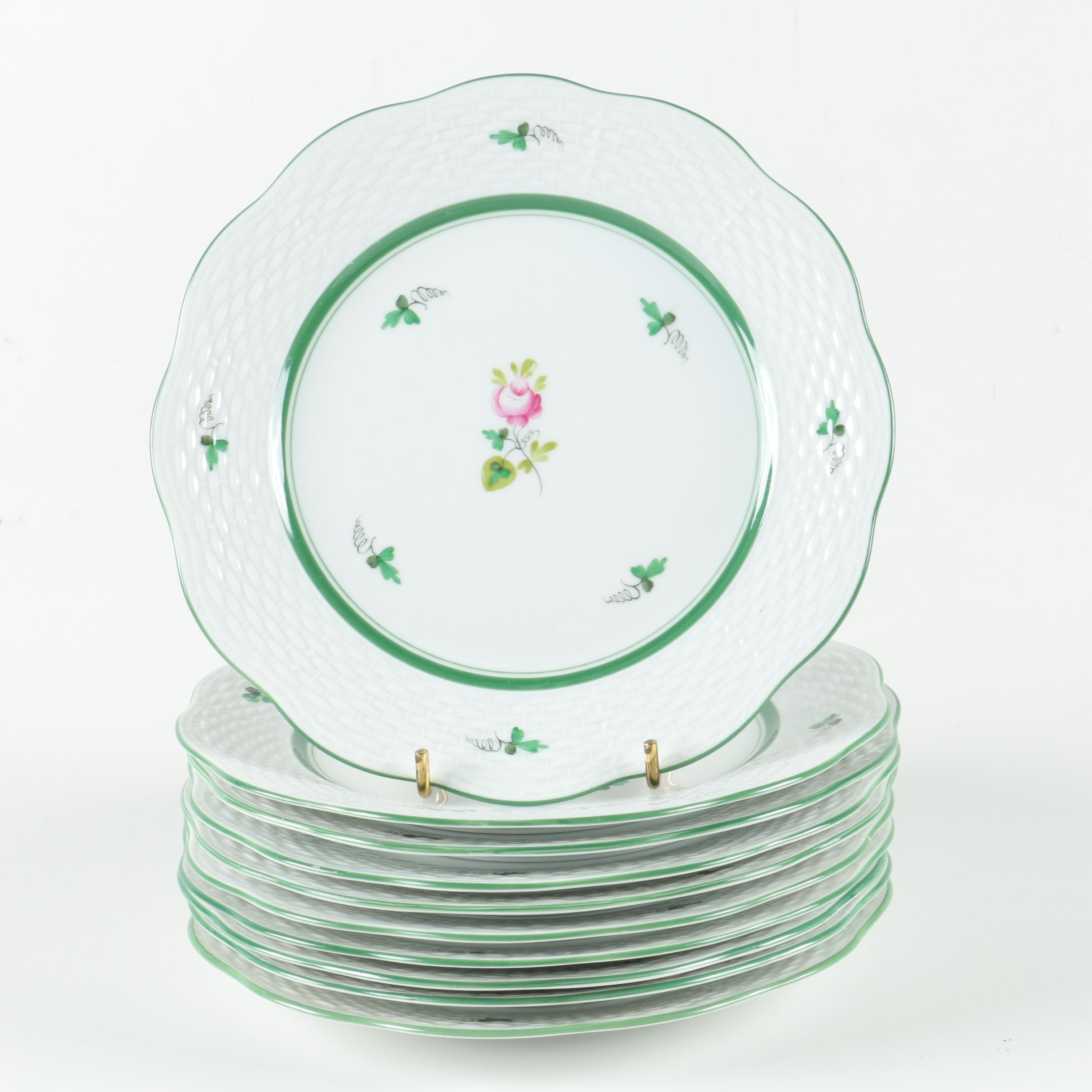 "Herend ""Vienna Rose"" Plates"