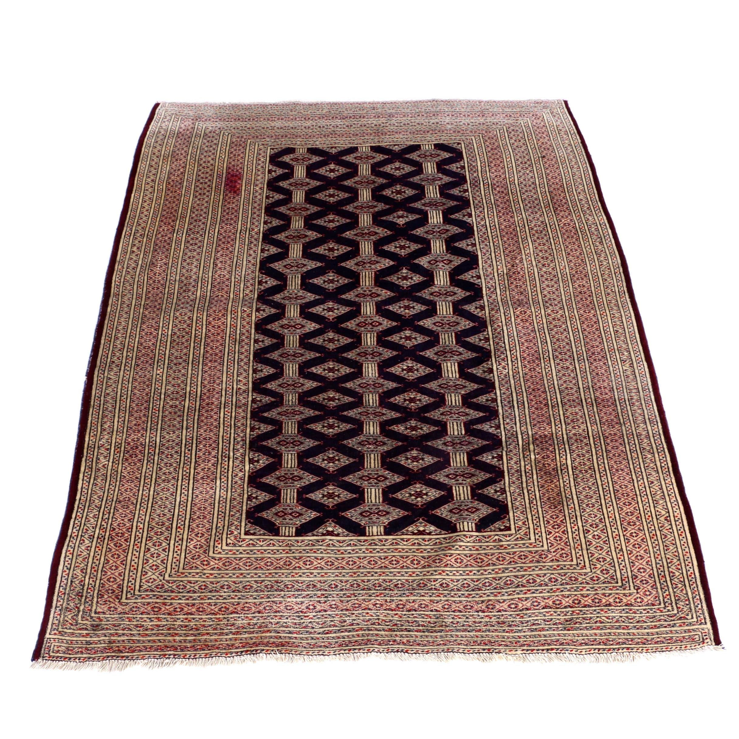 Hand-Knotted Jaldar Bokhara Area Rug