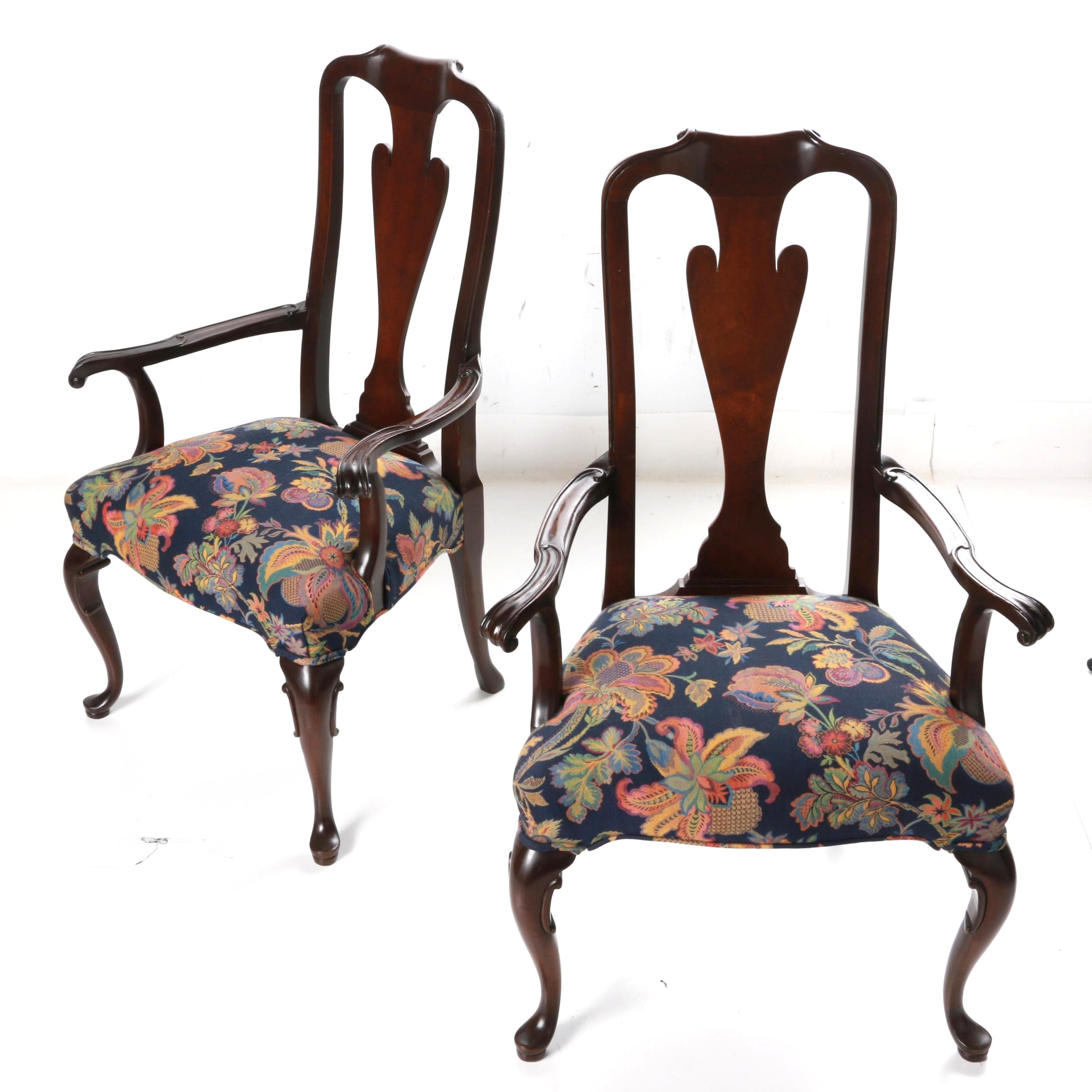 Pair of Queen Anne Style Armchairs