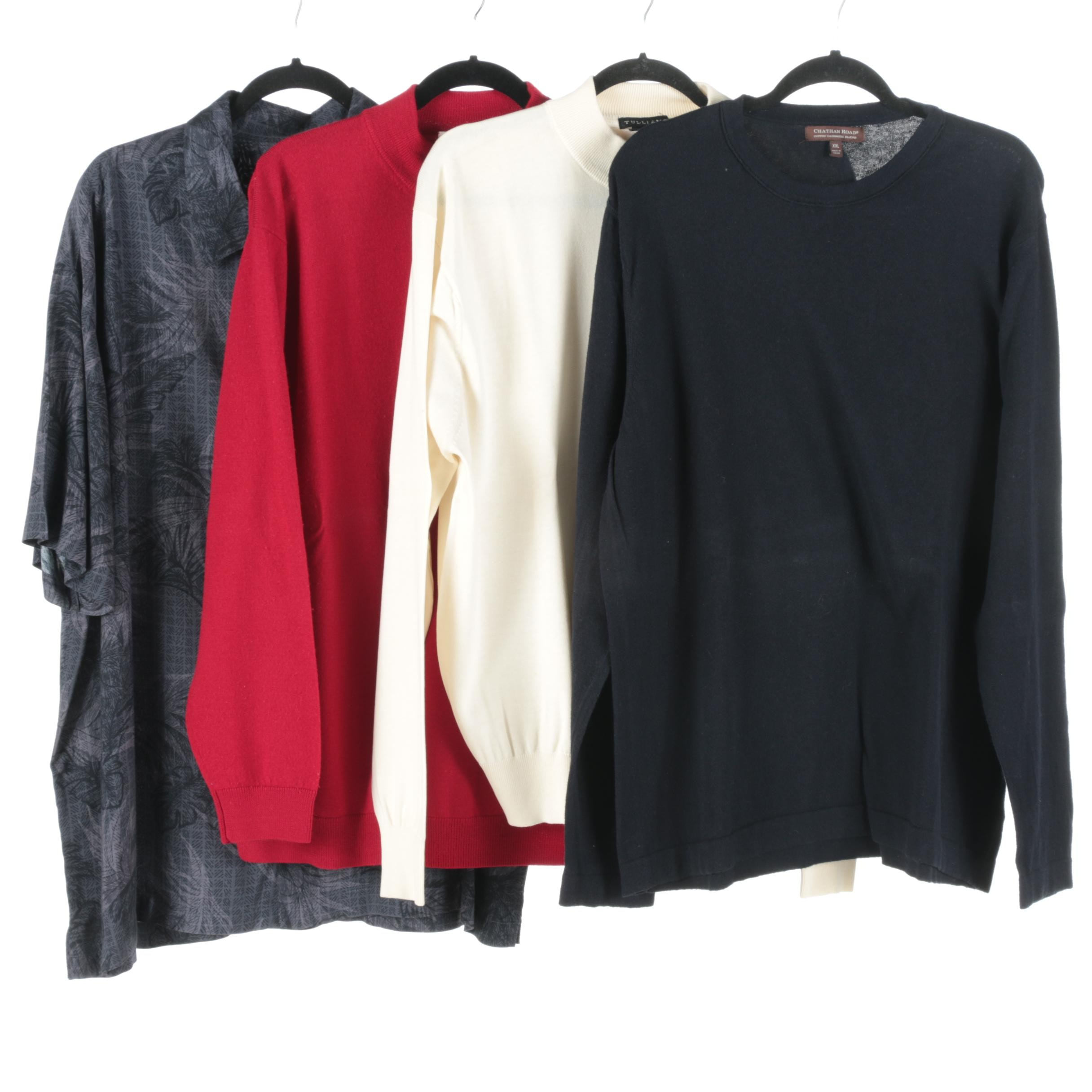 Collection of Men's Sweaters and Button Down Shirt