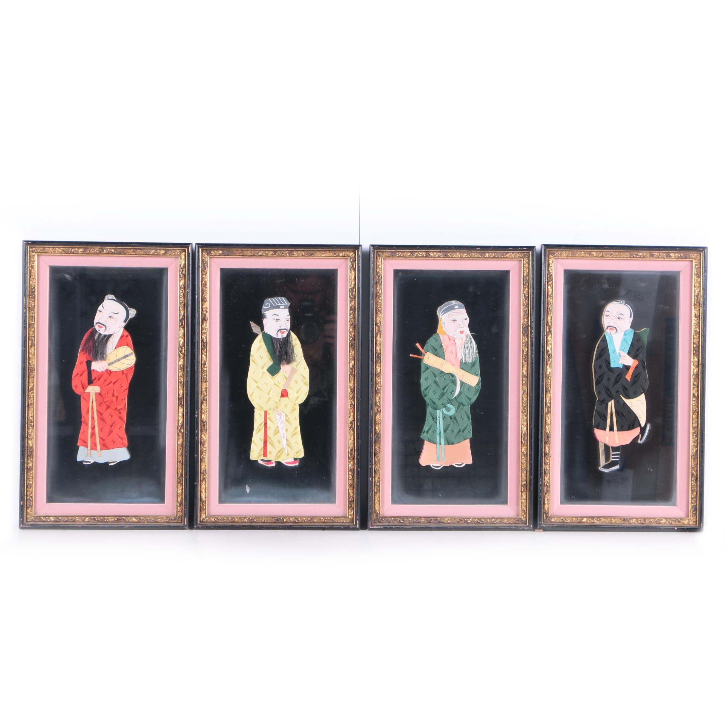 Collection of Chinese Mixed Media Figures