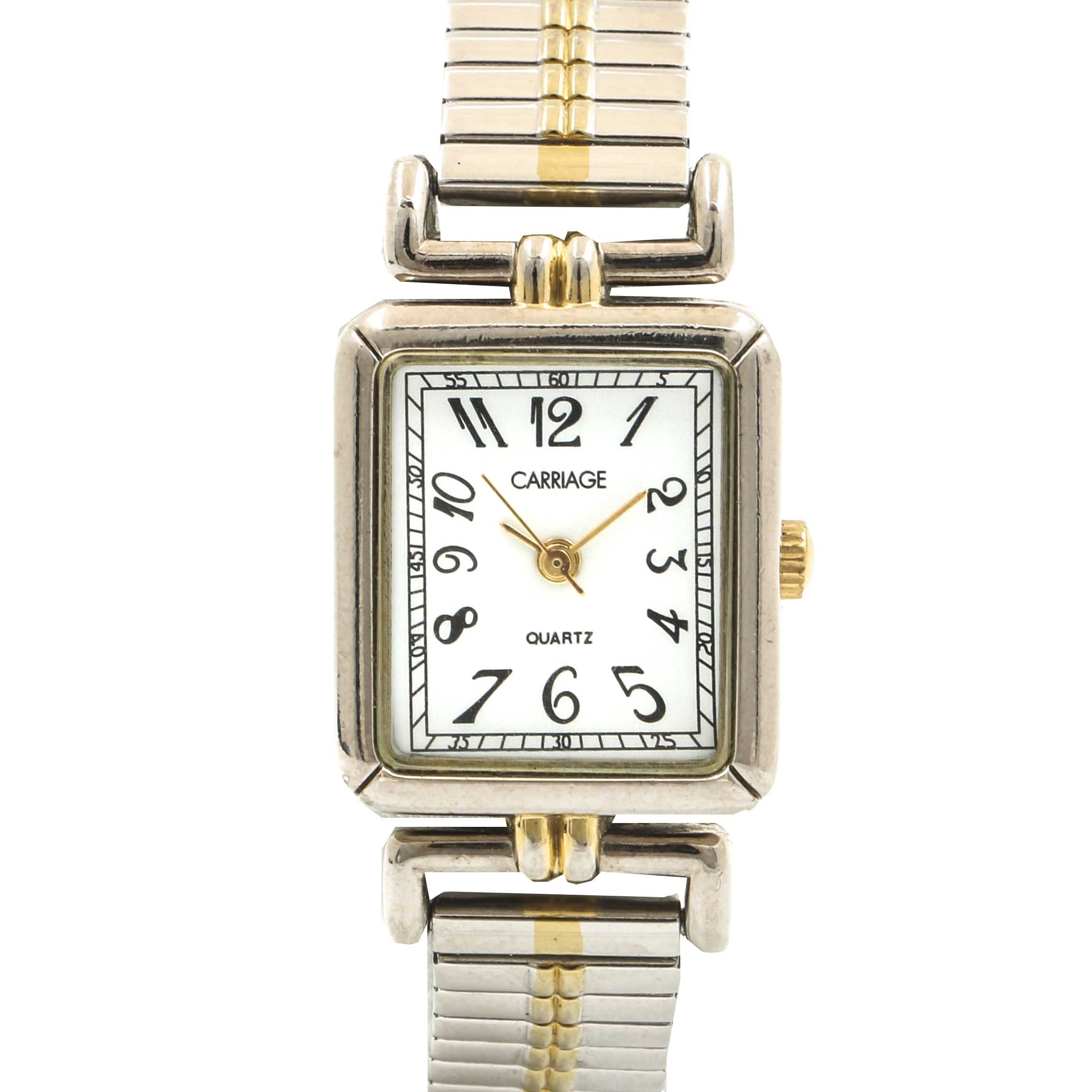 Carriage Quartz Two Tone Wristwatch by Timex