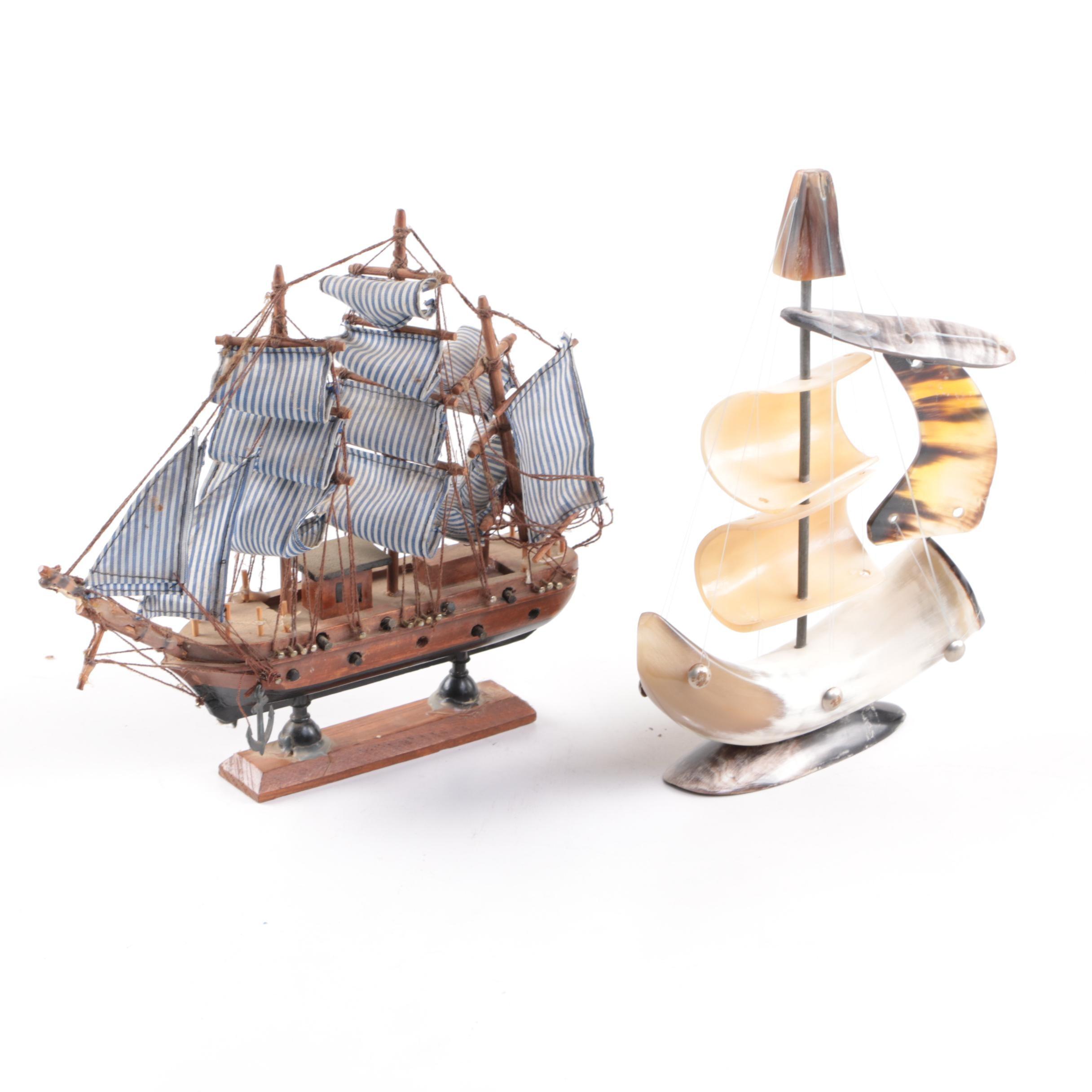 Assorted Decorative Miniature Ships
