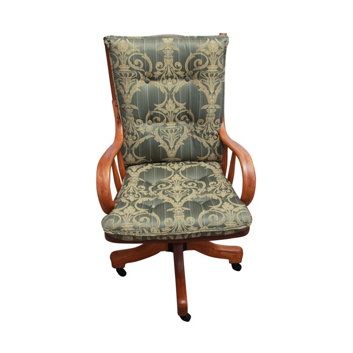Oak Windsor Style Desk Chair