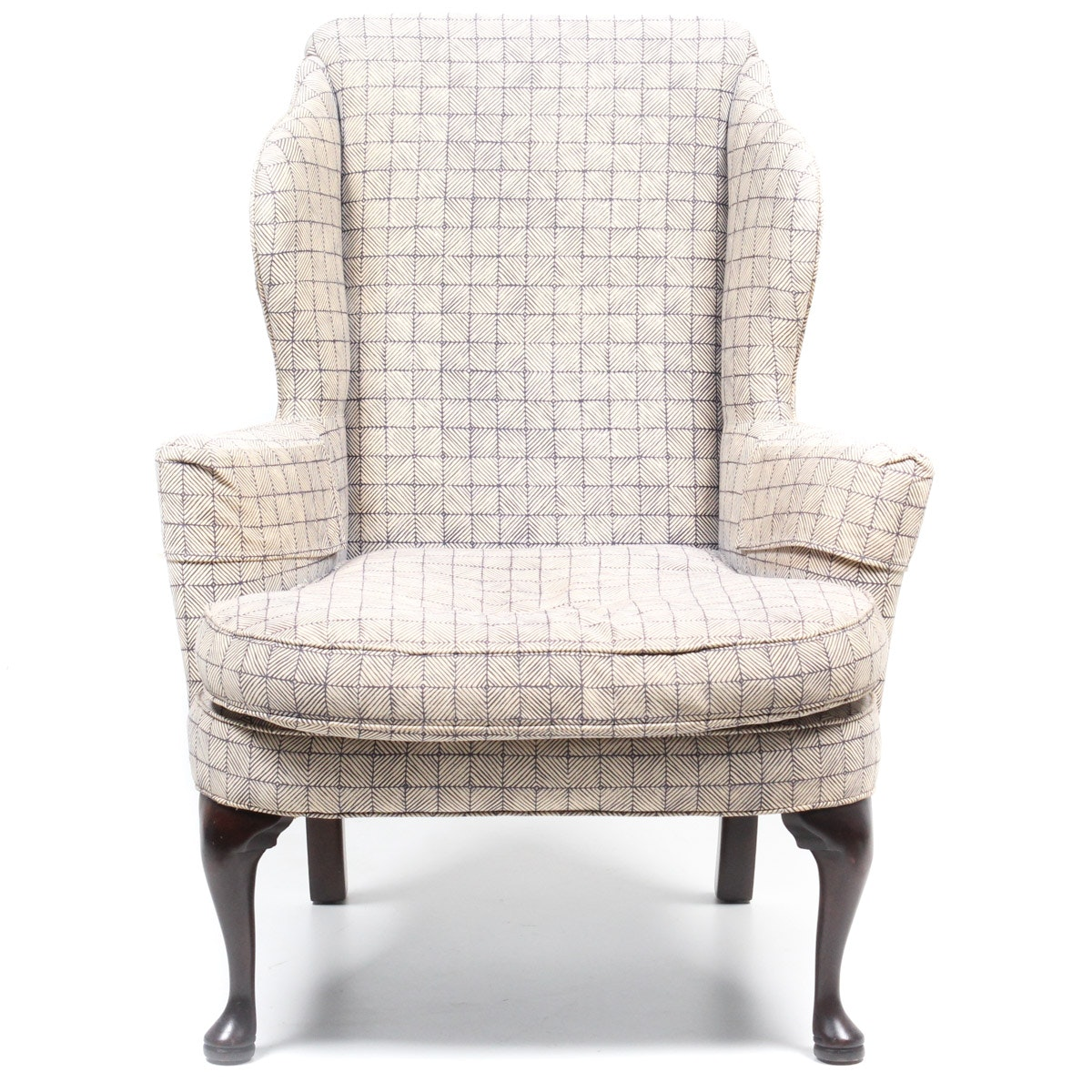 Custom Upholstered Wing Back Armchair