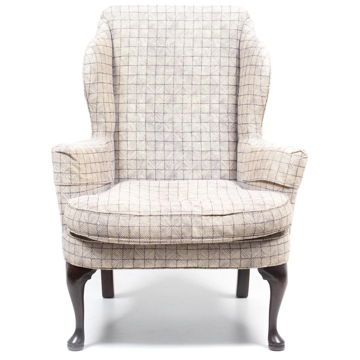 Custom Upholstered Wing Back Armchair