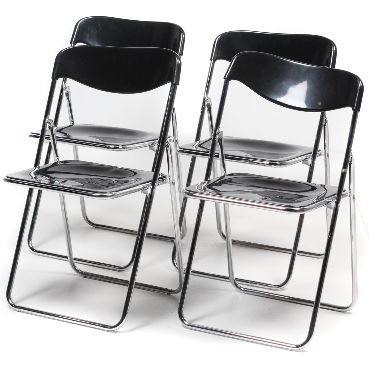 Set of Contemporary Folding Chairs ...  sc 1 st  EBTH.com & Set of Contemporary Folding Chairs : EBTH