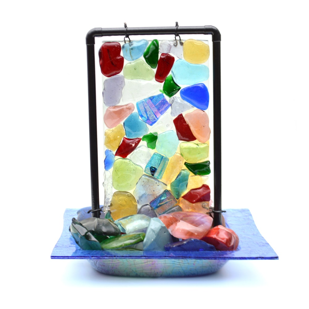 Kerry Cleaver Art Glass Table Top Fountain ...