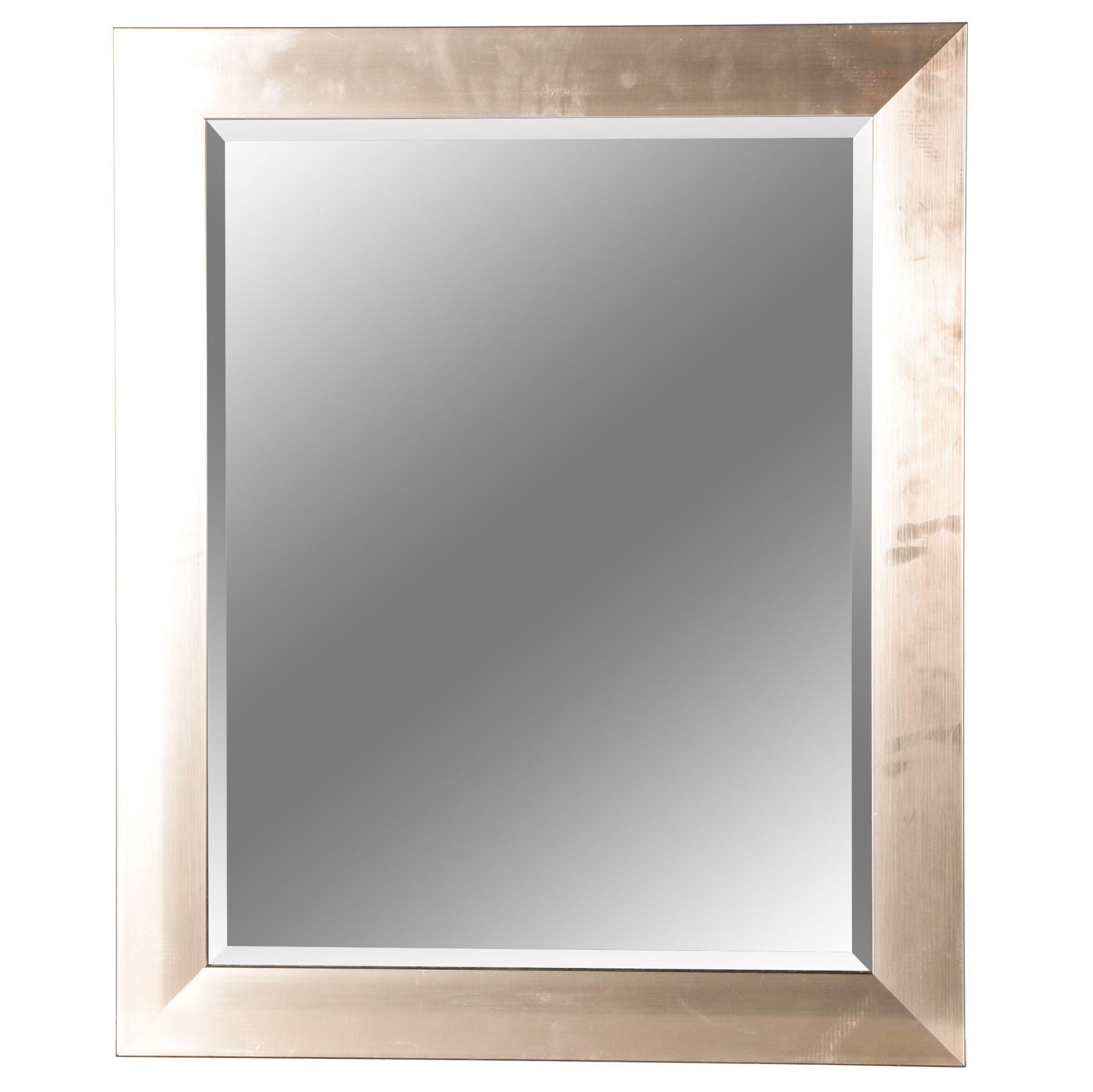 Silver Tone  Framed Wall Mirror