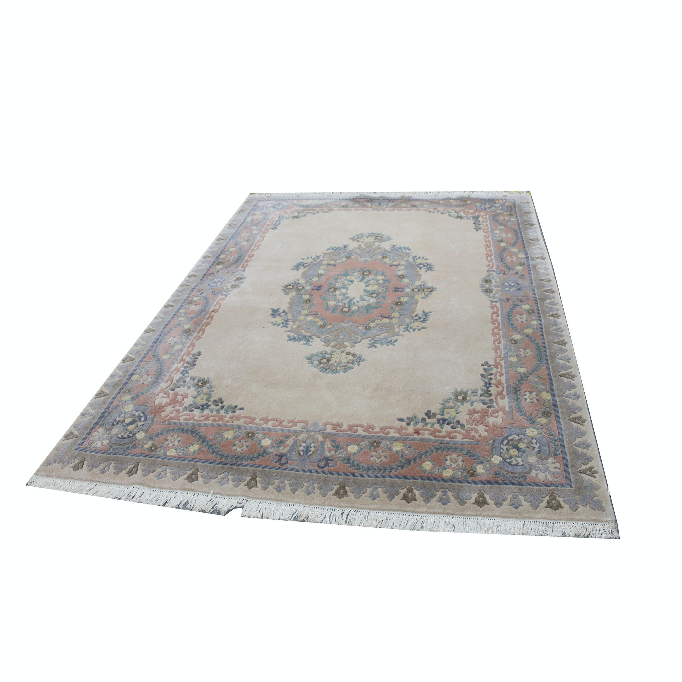 Large Hand-Knotted and Carved Pande Cameron Chinese-Style Rug