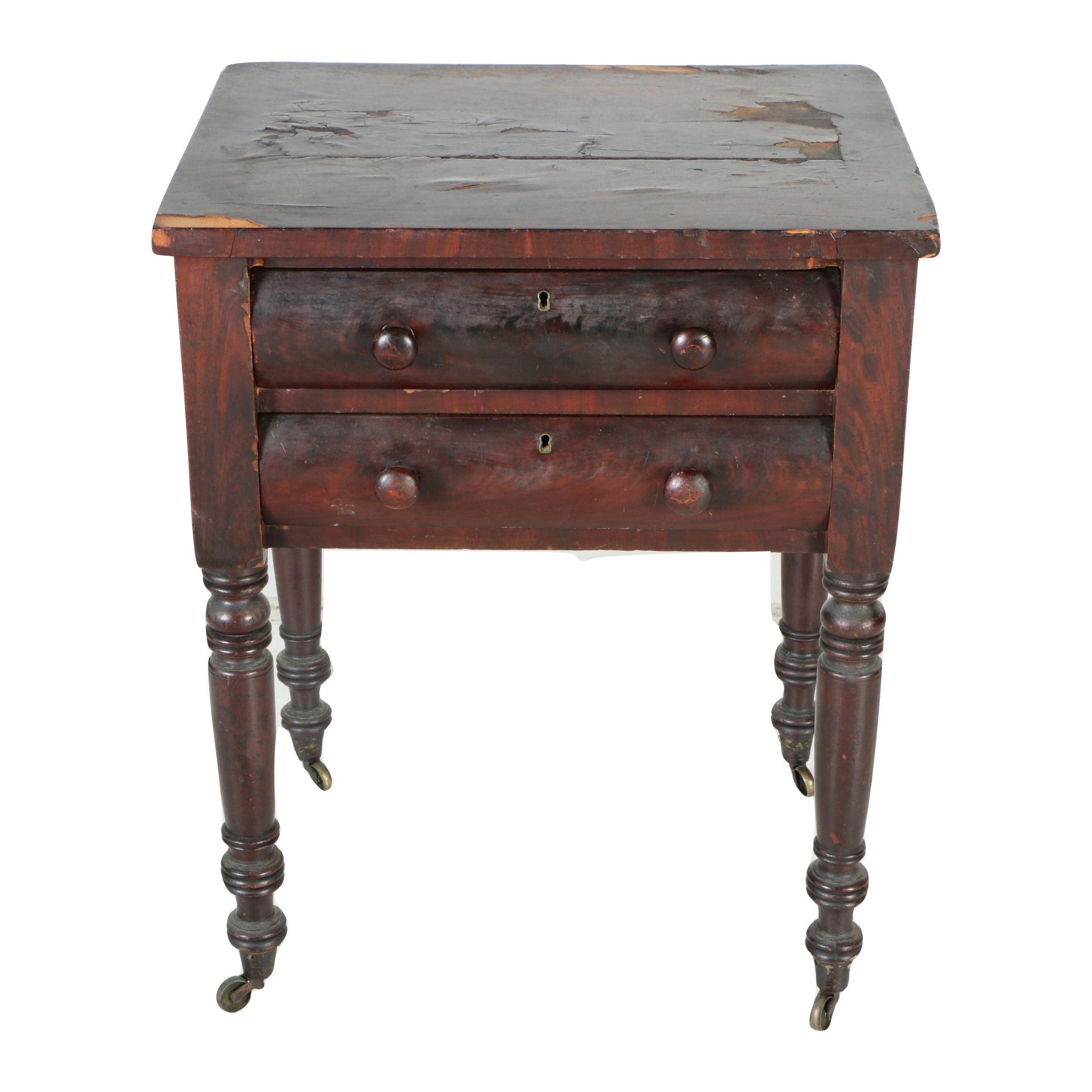 18 Century Veneered Side Table