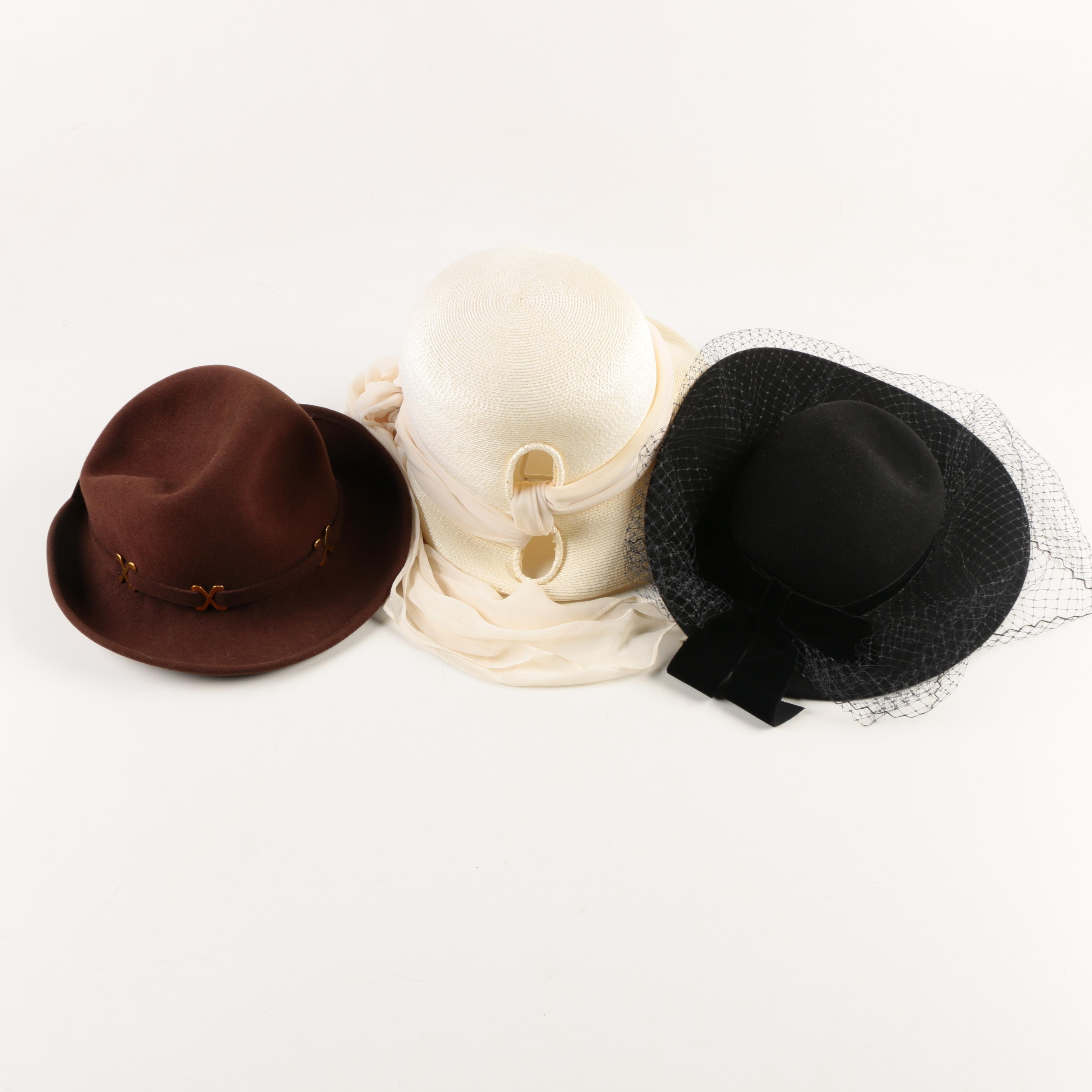 Assortment of Women's Vintage Hats
