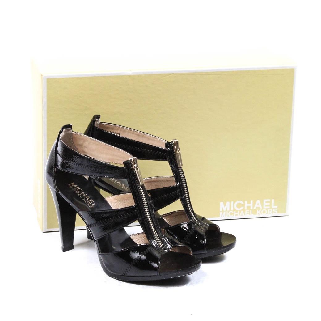 MICHAEL Michael Kors Black Patent Leather Heels