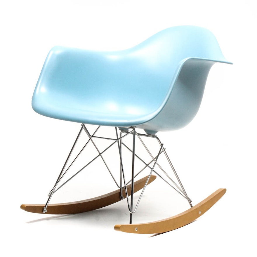 Mid century modern eames rocking chair by vitra ebth - Rocking chair vitra ...
